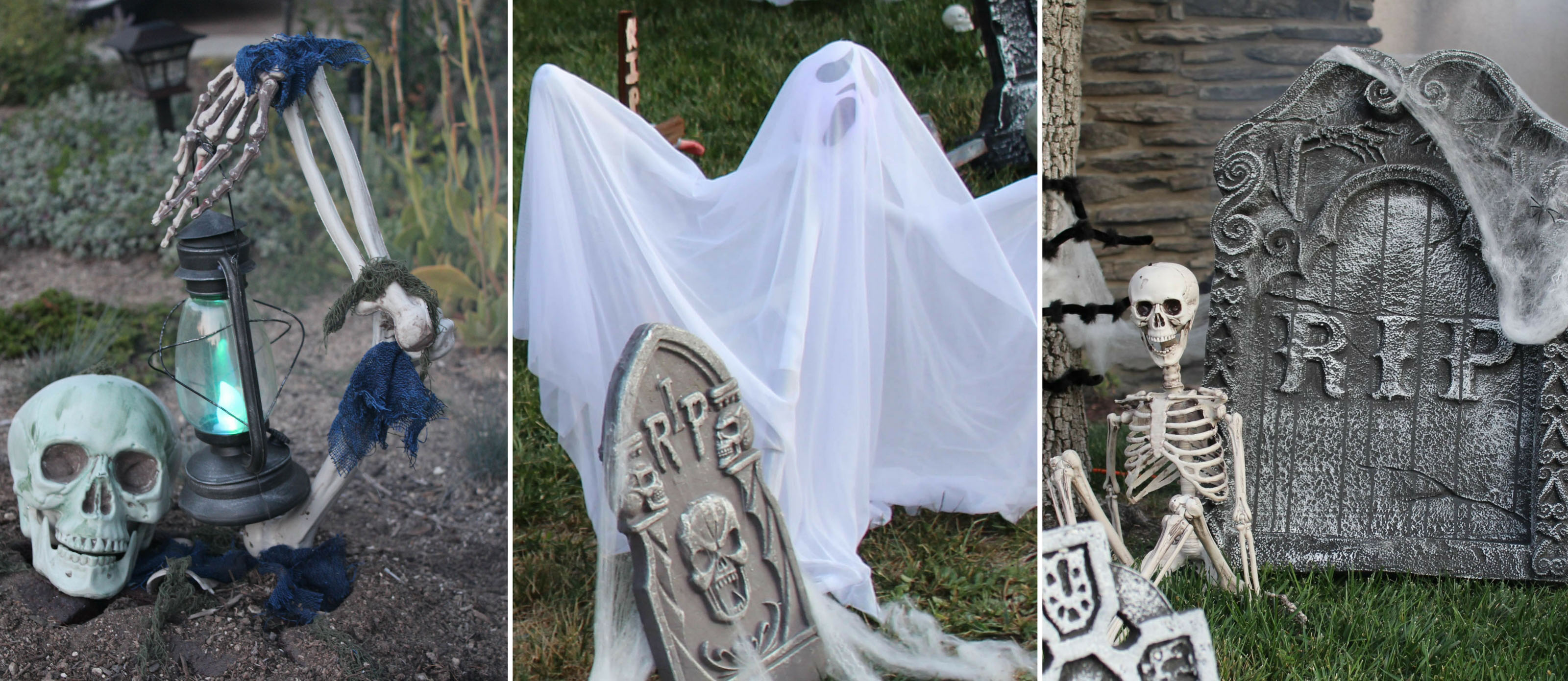 outdoor halloween haunted cemetery