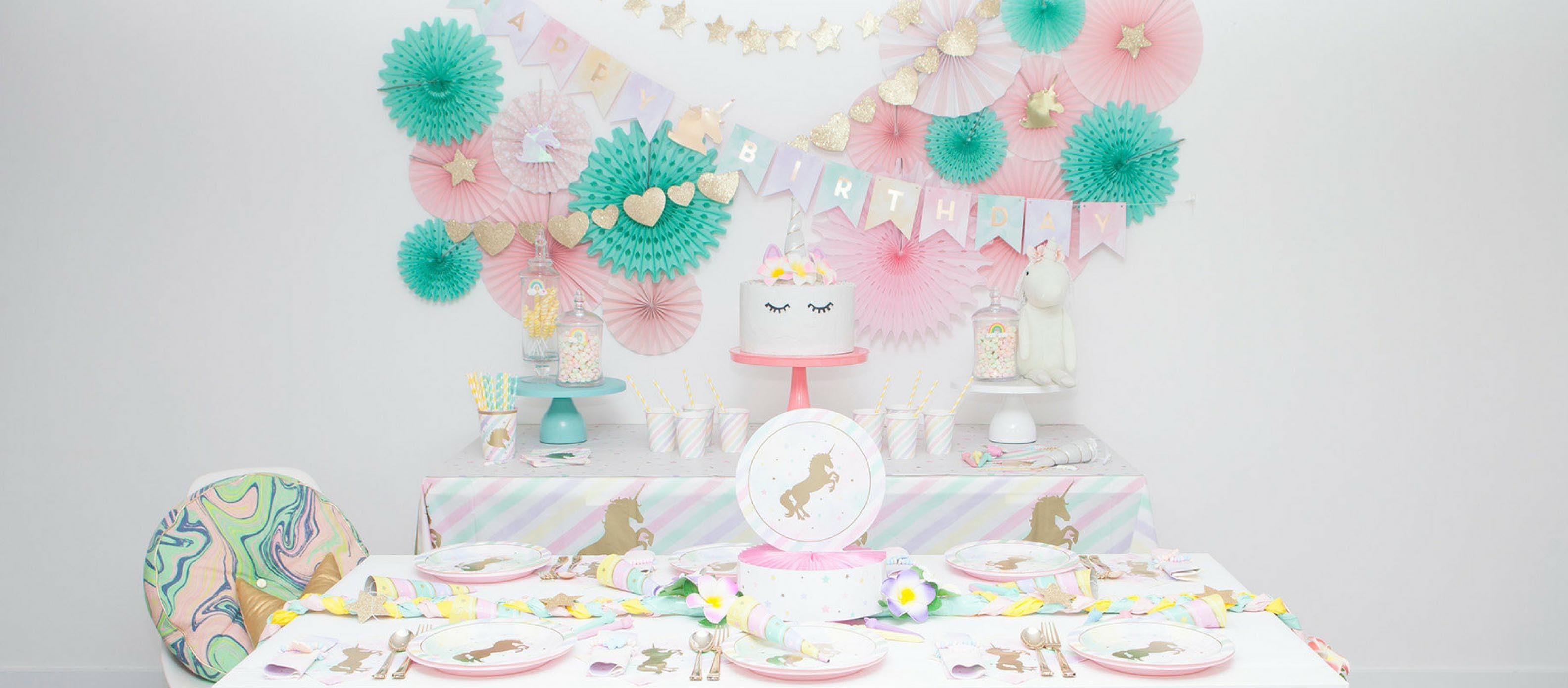 Pastel Unicorn Birthday Party