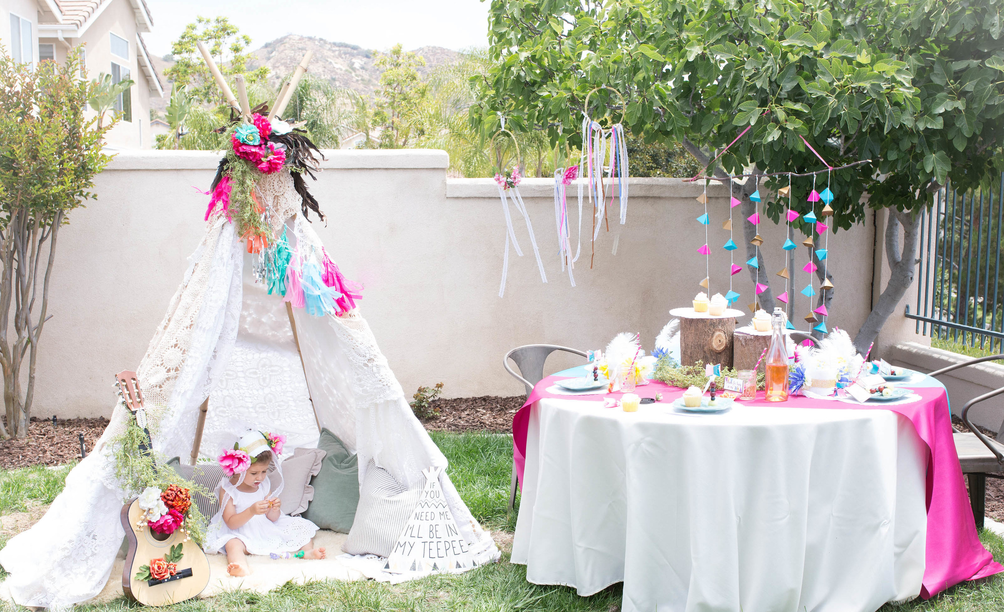 Bohemian Tribal Teepee Birthday Party