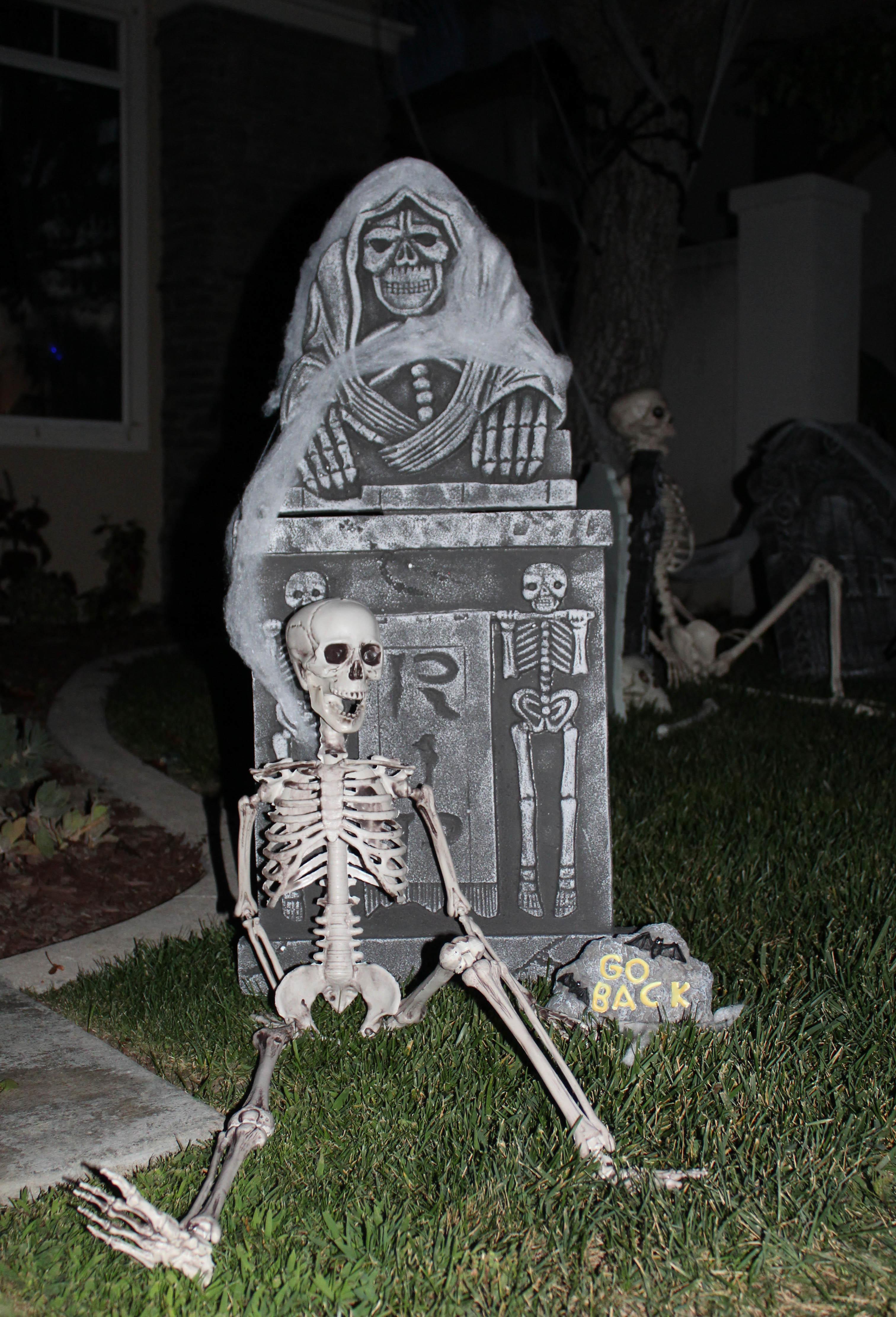 outdoor halloween haunted cemetery