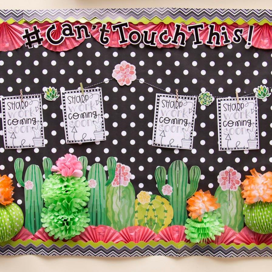 August 2019 - Cactus-Themed Bulletin Board