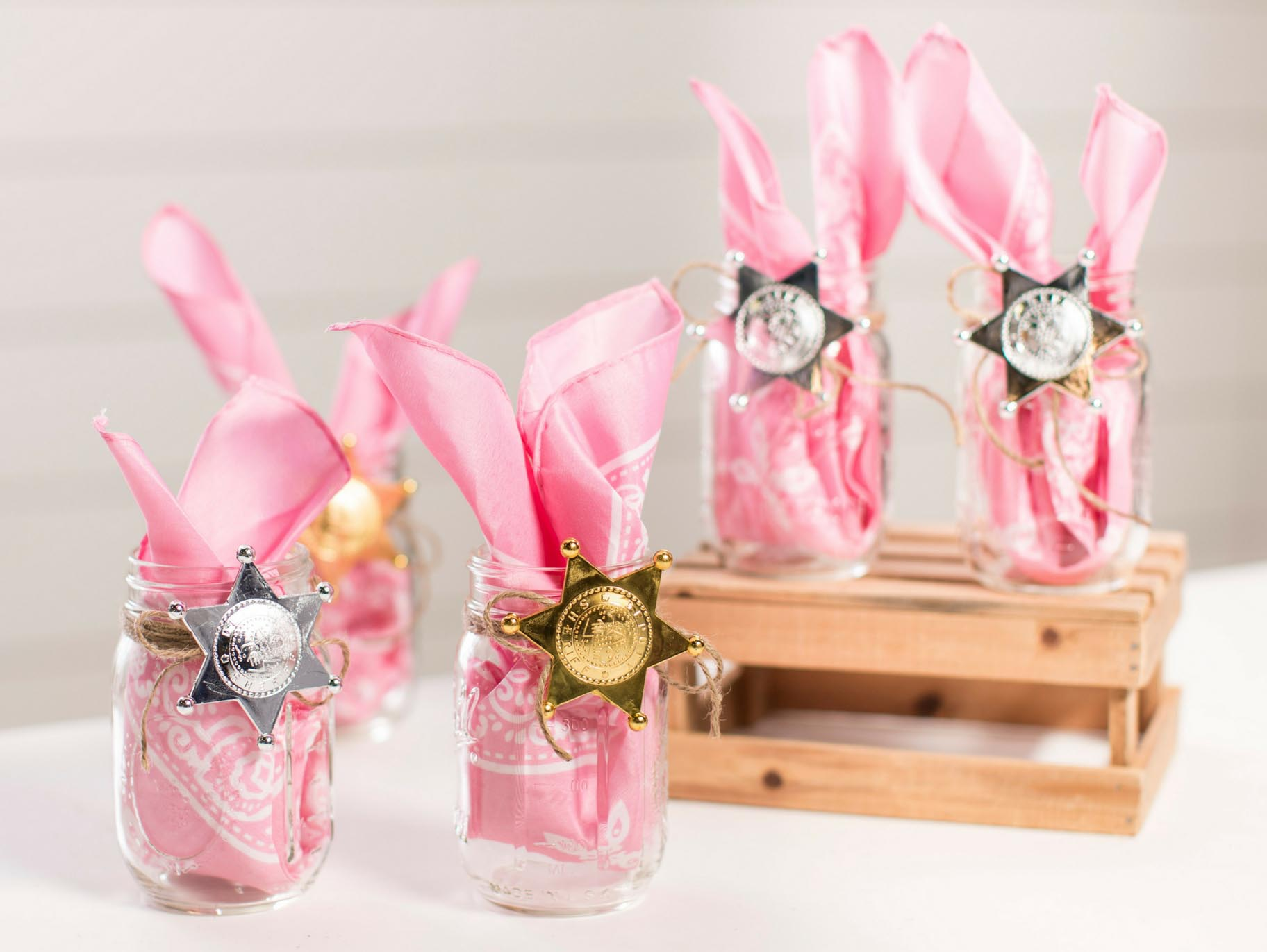 Pink Cowgirl Party Favor Idea