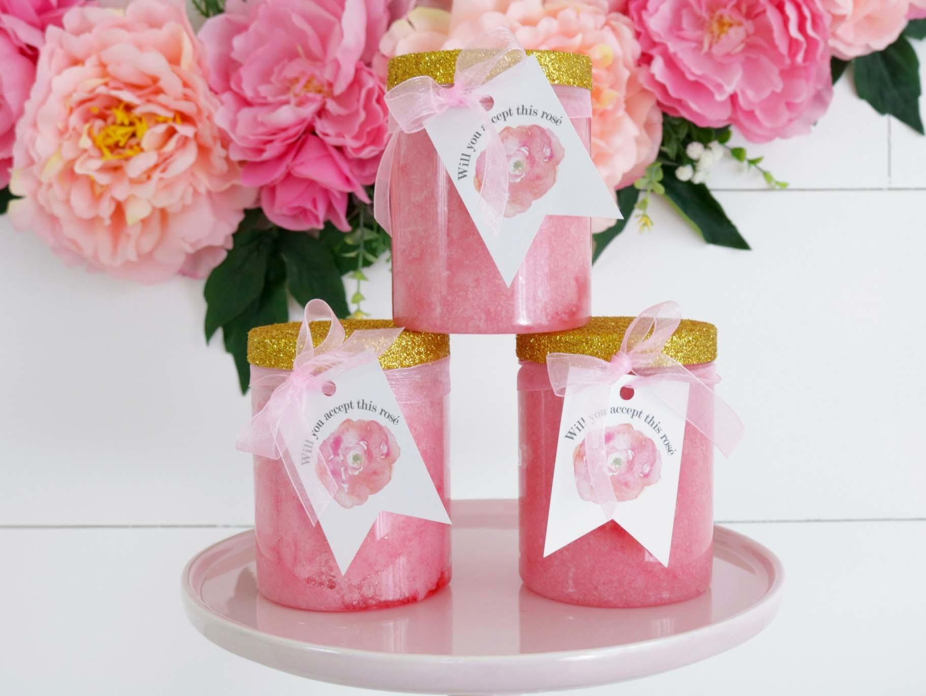 DIY Rosé Sugar Scrub Favors