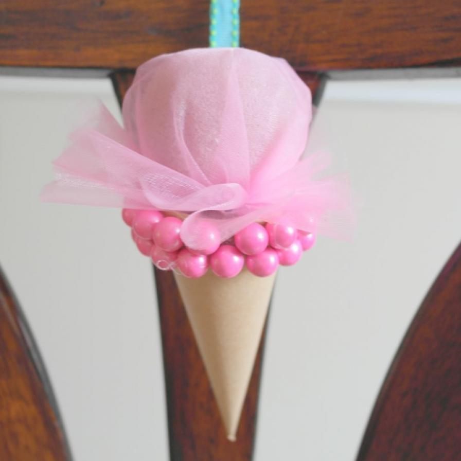 DIY Hanging Ice Cream Cone Decor