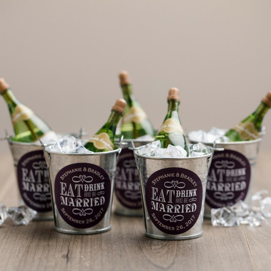 Mini Champagne Bottle Bubbles