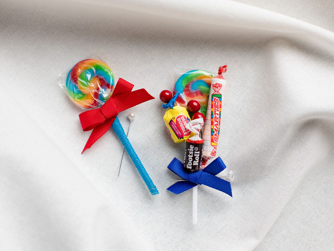 Diy Candy Themed Wedding Boutonniere