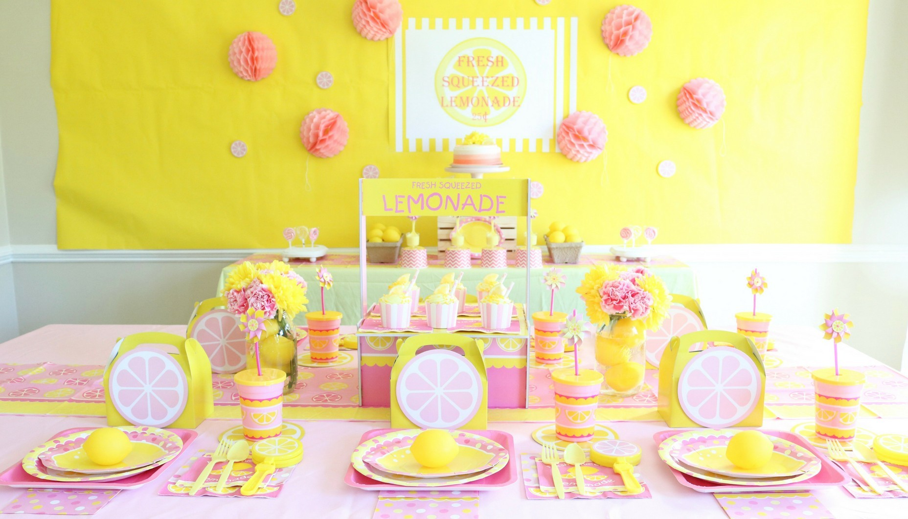 Pink Lemonade First Birthday Party | Fun365