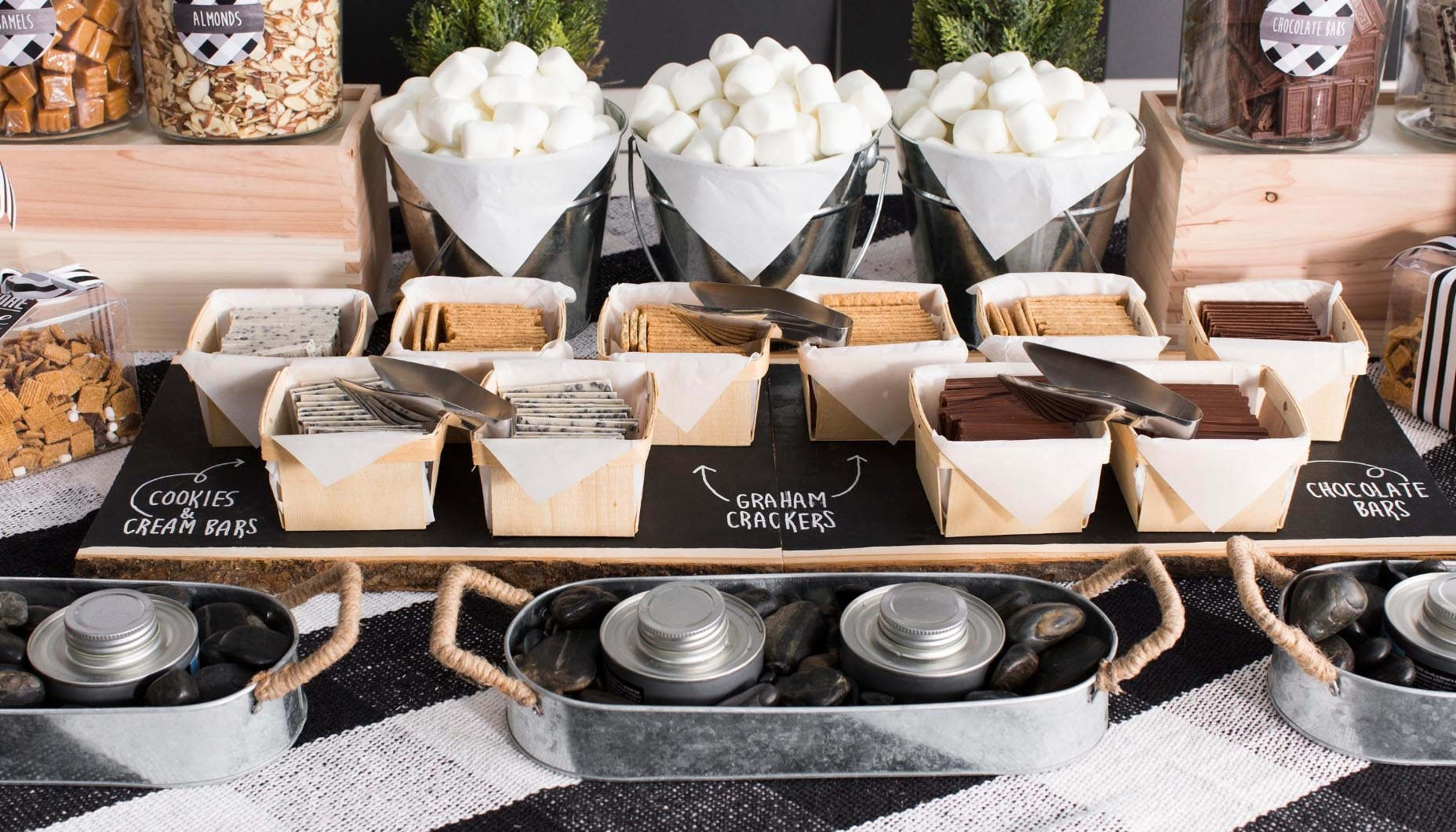 Modern Rustic Wedding S'mores Bar | Fun365