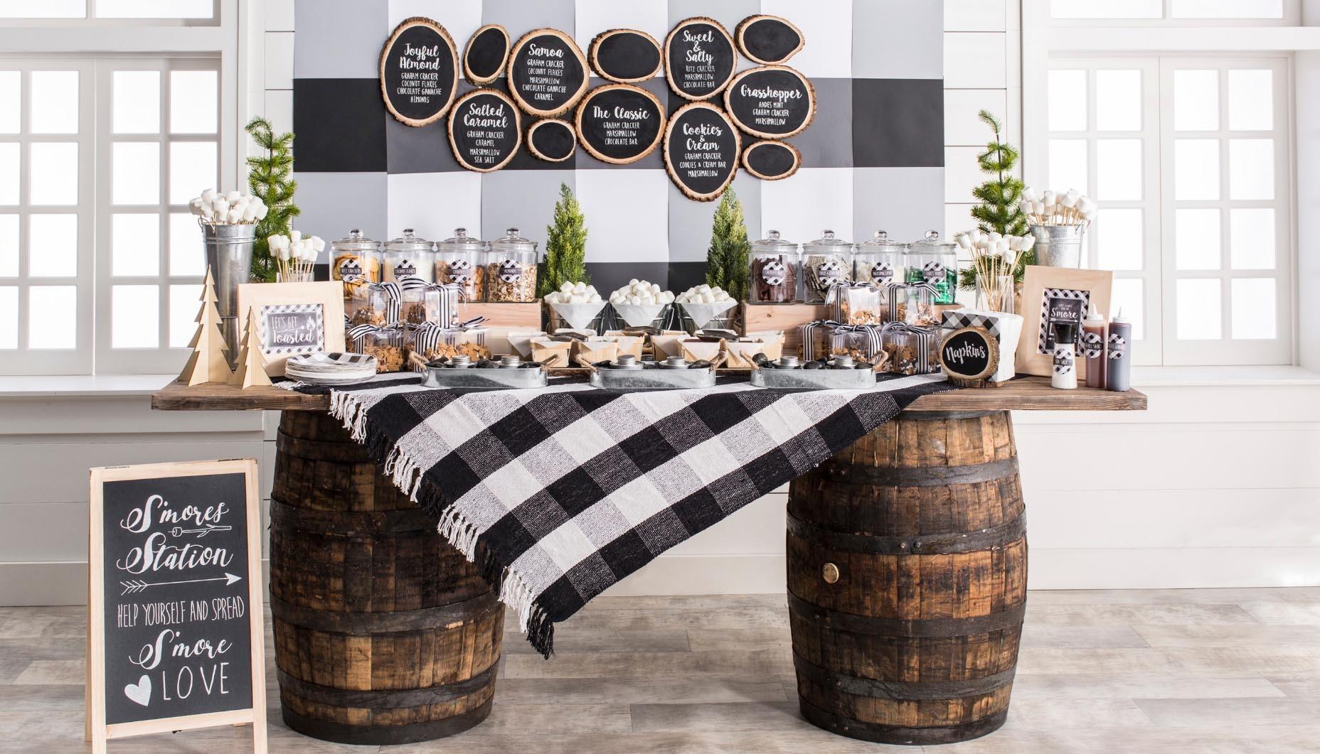 Modern Rustic Wedding S Mores Bar Fun365