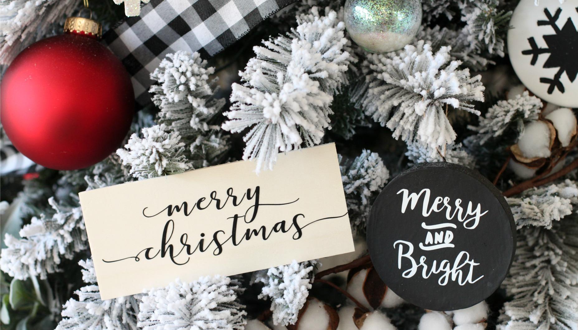 Modern Black And White Farmhouse Christmas Tree Fun365