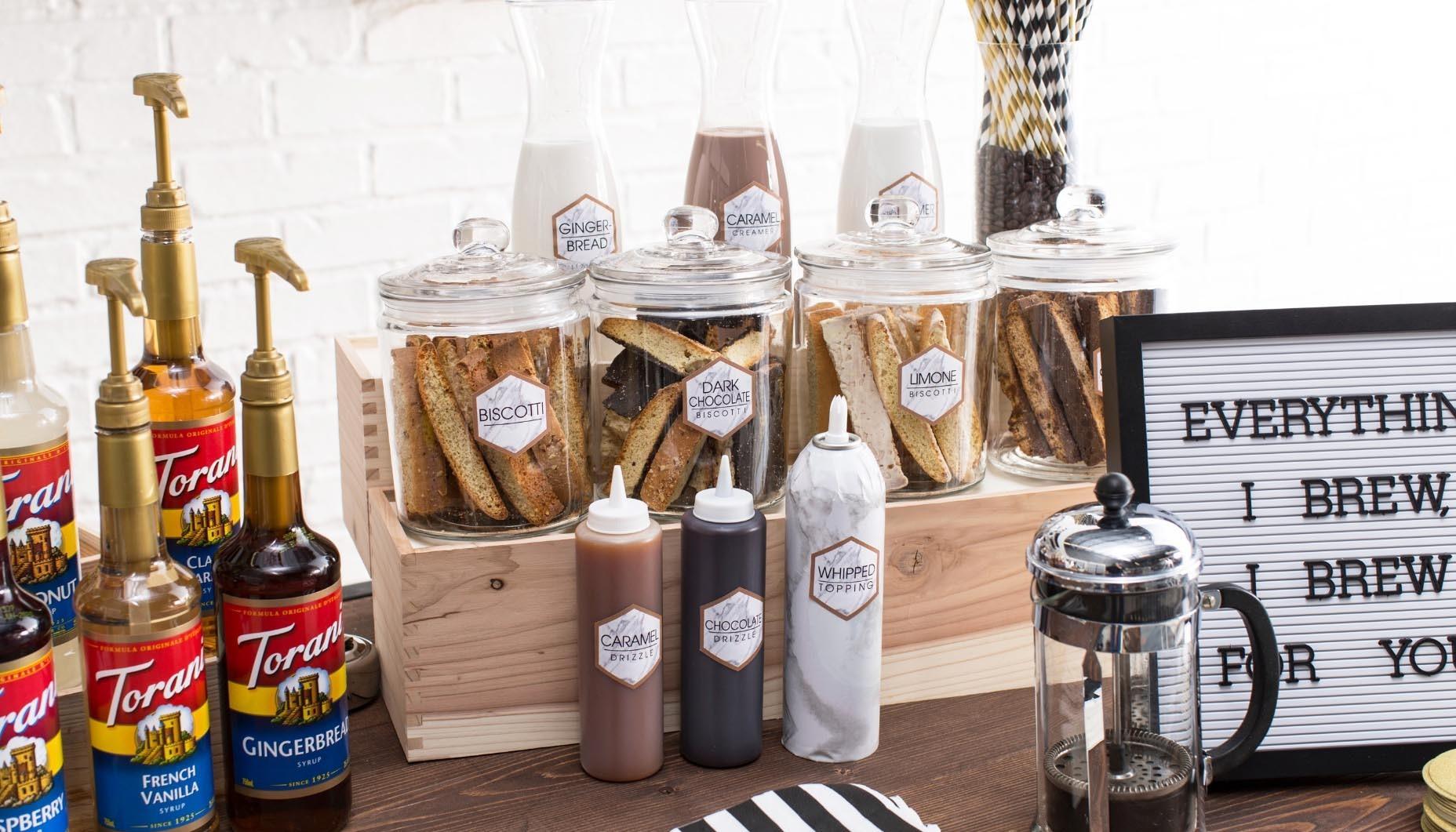 Wedding Reception Coffee Bar Idea   Fun12