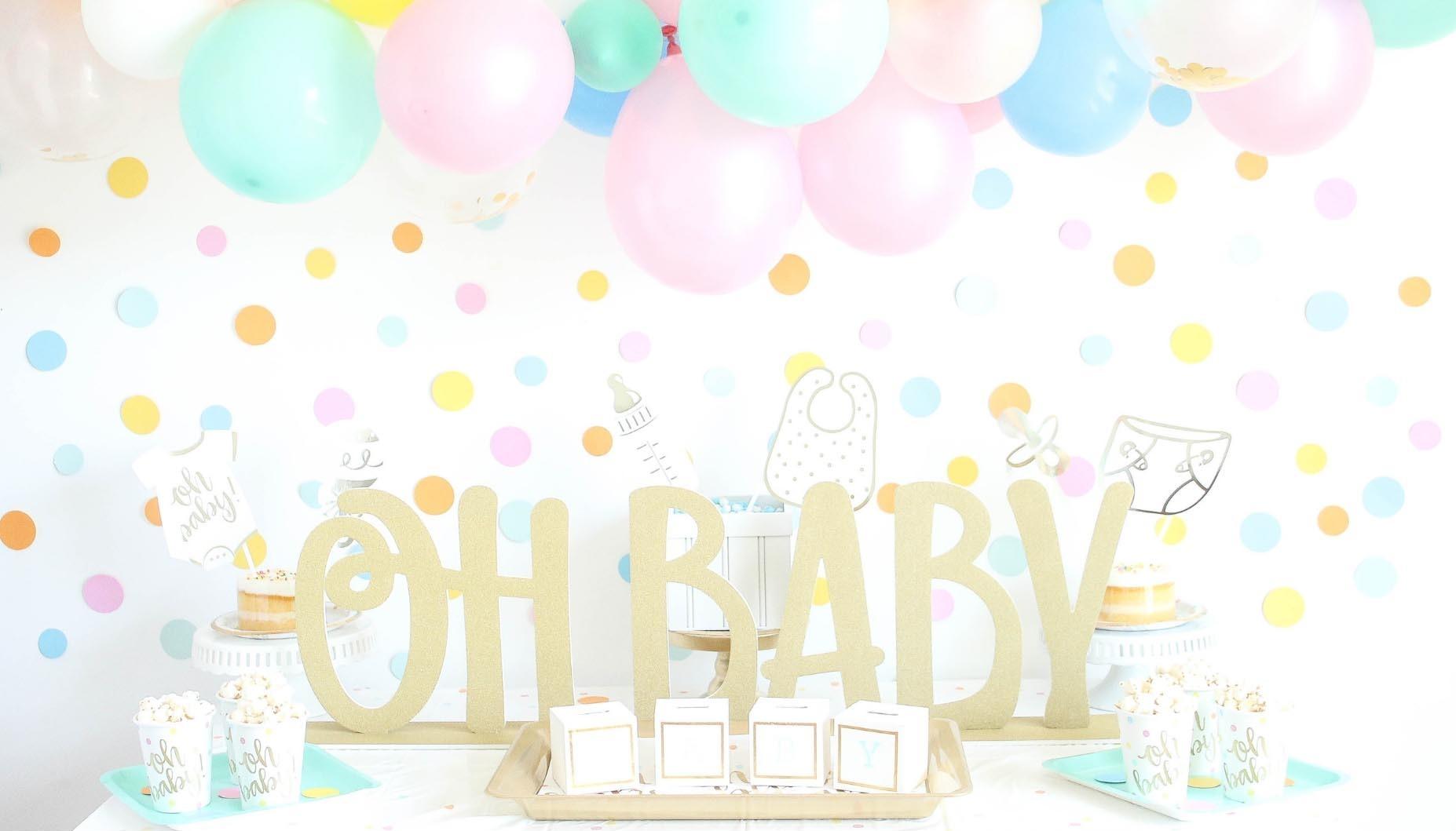 Gender Neutral Confetti Baby Shower Fun365