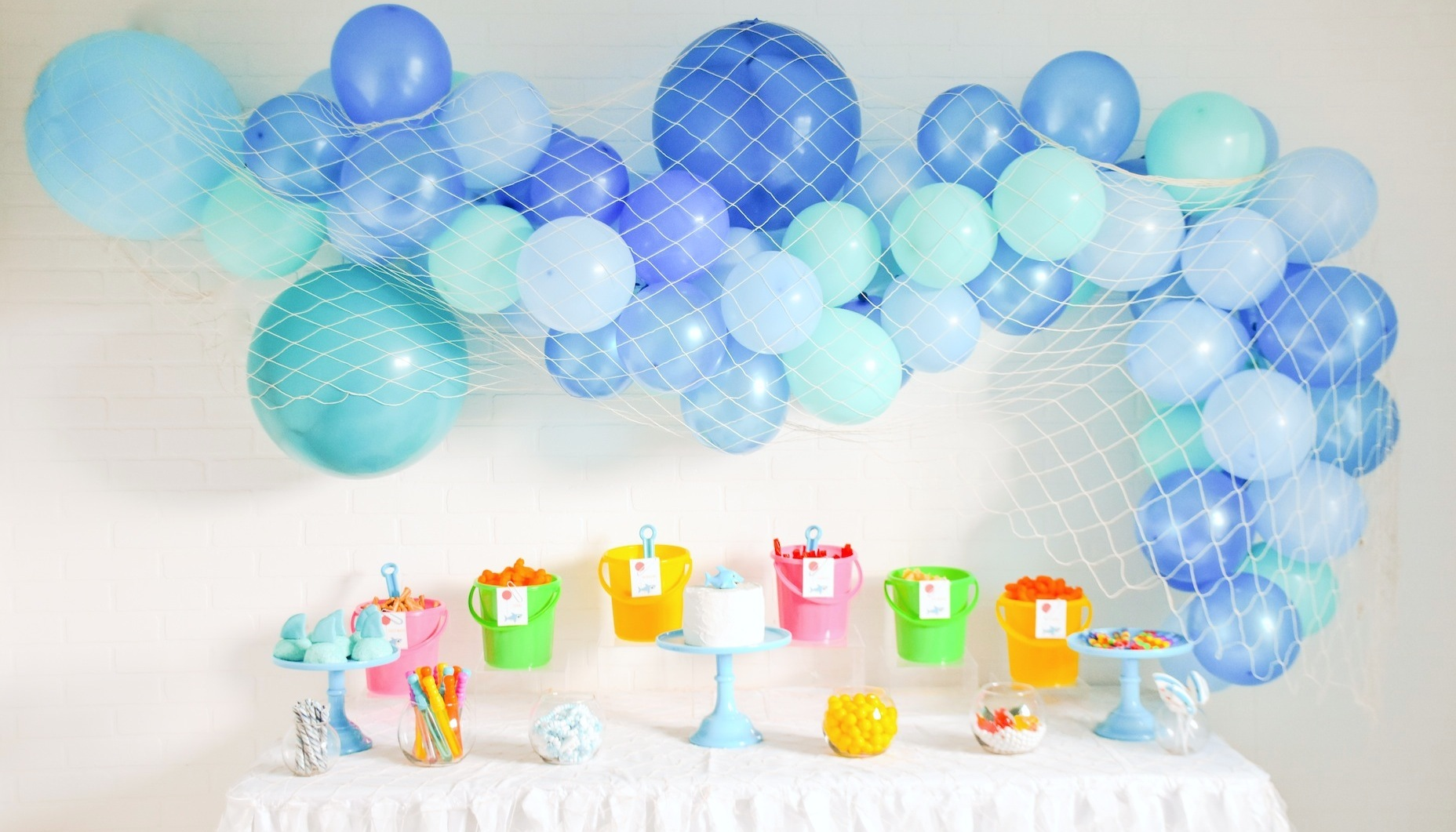 Shark Themed Party Birthday 40 Pcs Cute Shark Party Favor Bags for Baby Shower