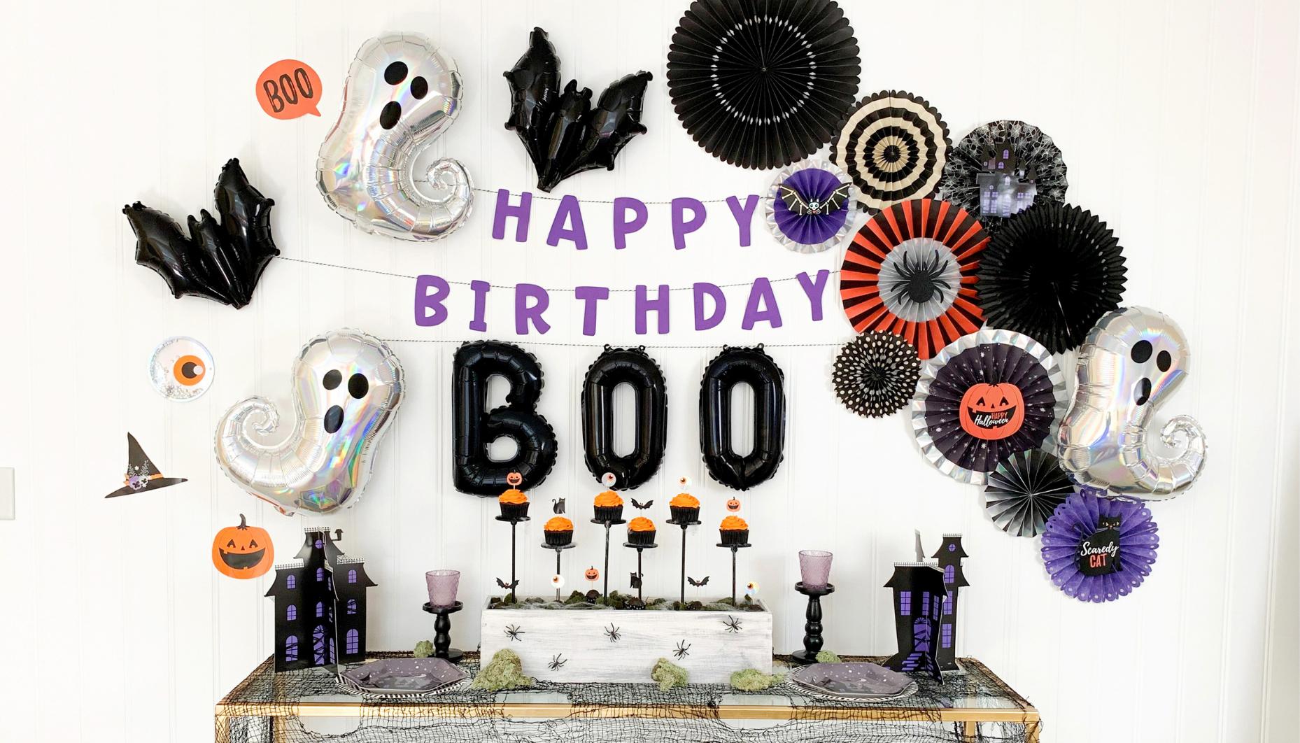 6 Happy Halloween Glitter Centerpiece Sticks  Halloween Decorations  Halloween Party Decor  Halloween Cake Topper  Table Decorations