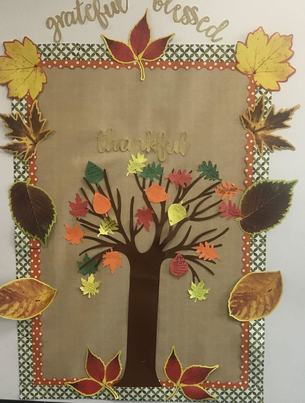 Gratitude Tree Bulletin Board Craft Fun365