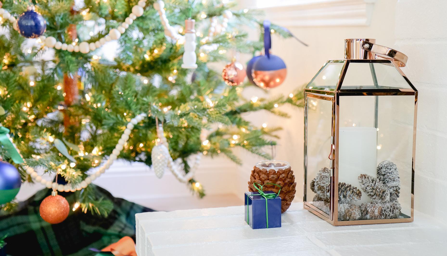 Navy Copper Christmas Tree Decor Ideas Fun365