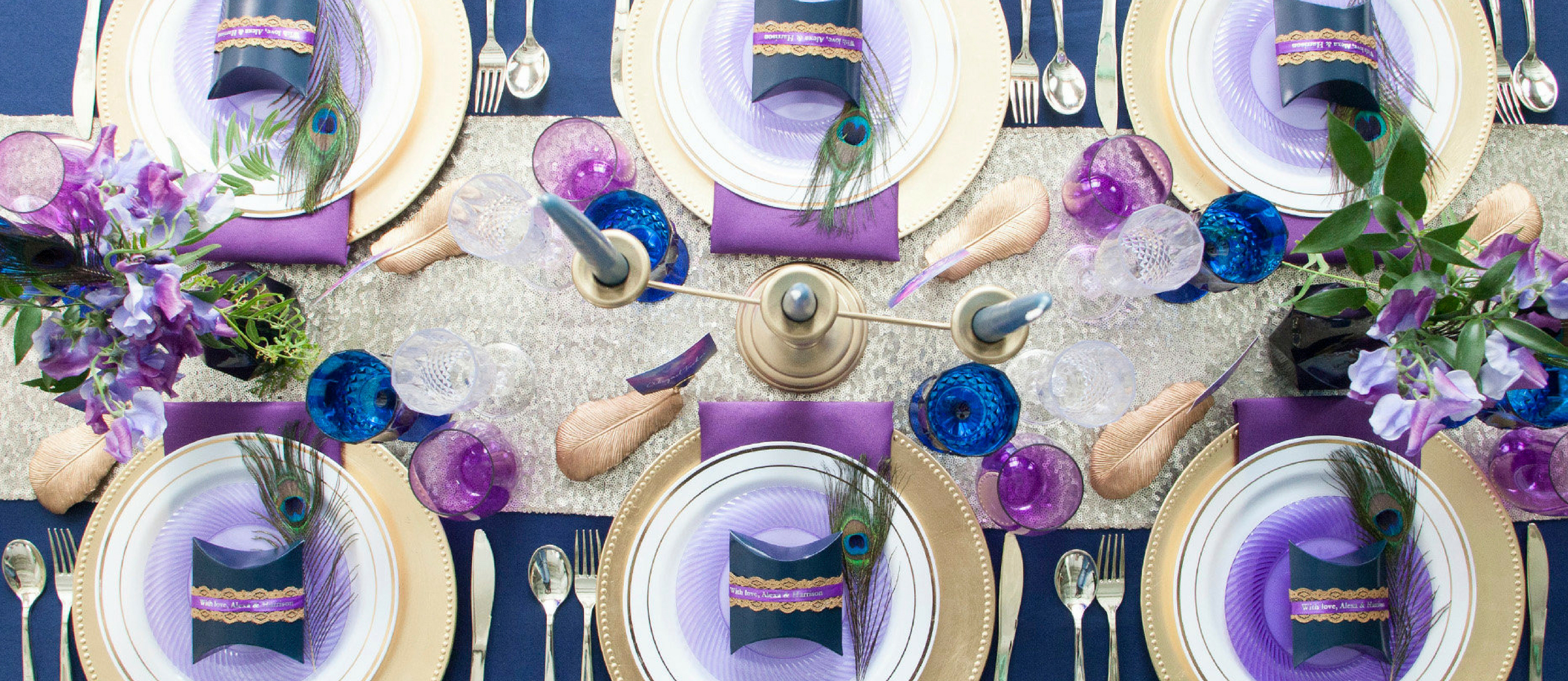 Elegant Navy And Purple Wedding Table Ideas Fun365