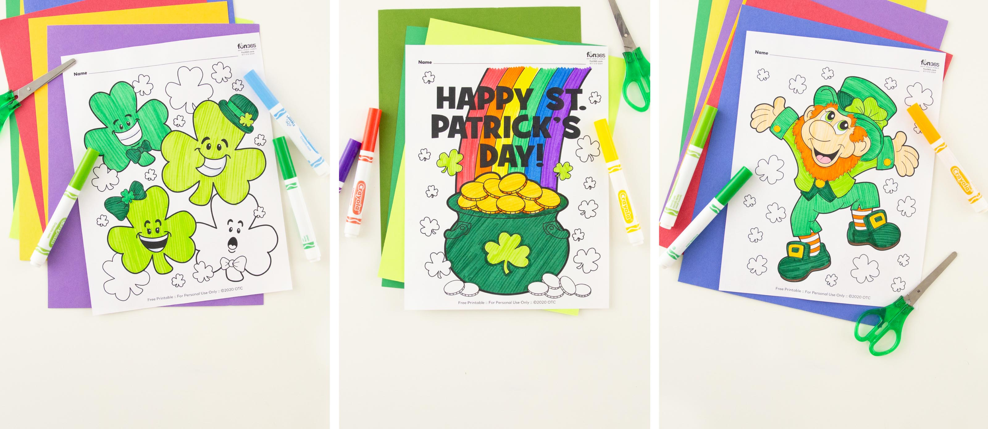 Free, Printable St. Patrick's Day Coloring Pages | 1391x3200