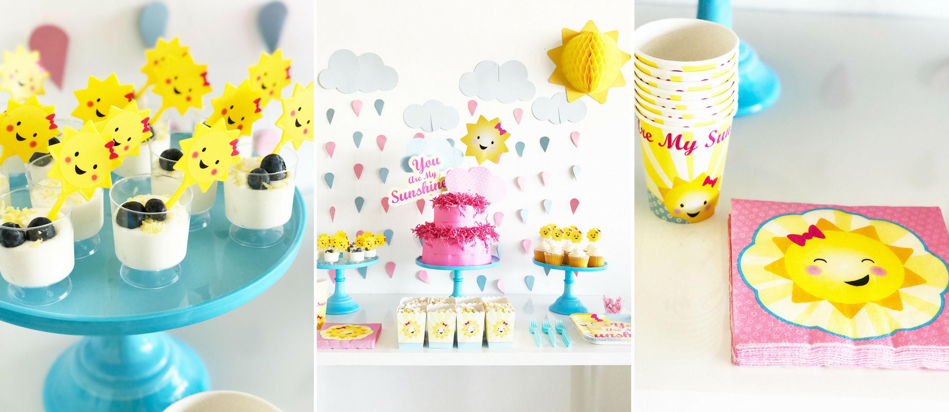 Sunshine Themed Girl Baby Shower