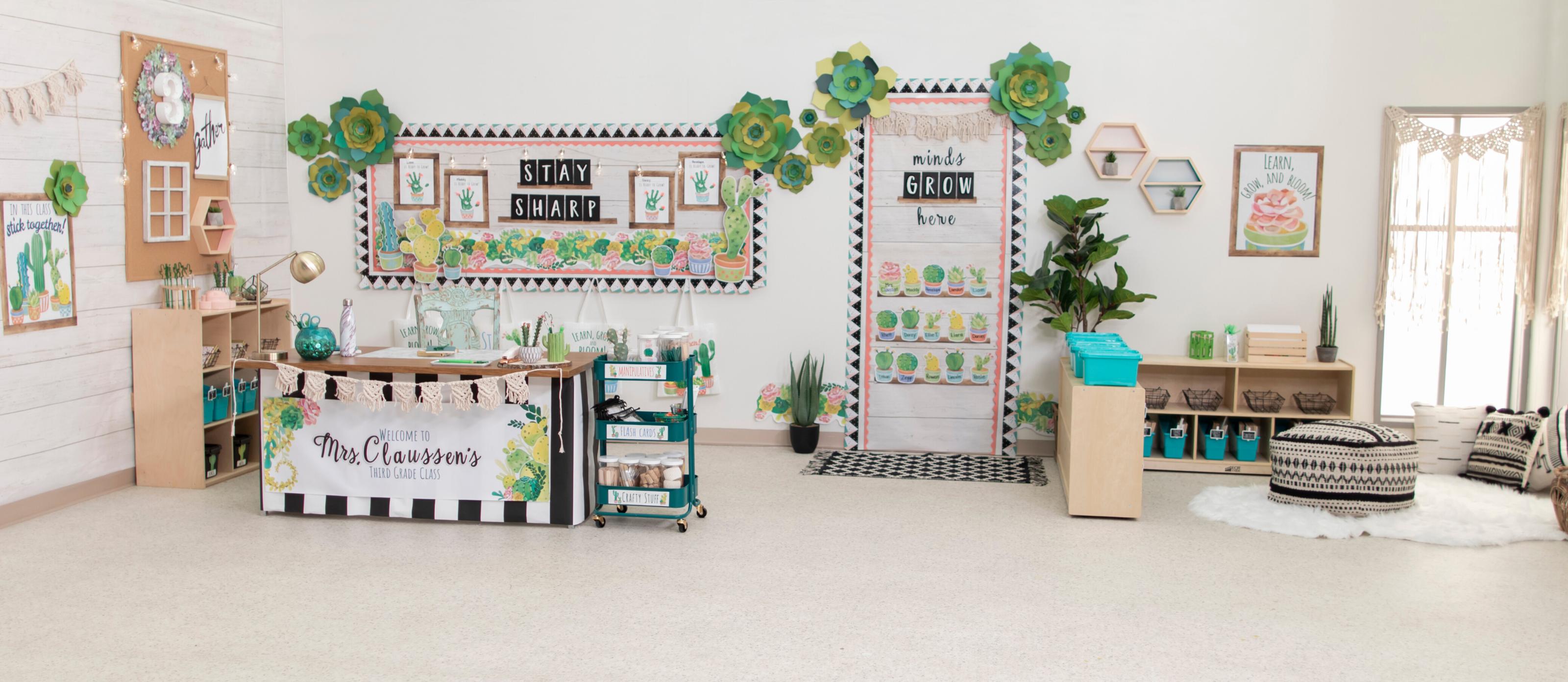Cactus Theme Classroom Reveal Fun365