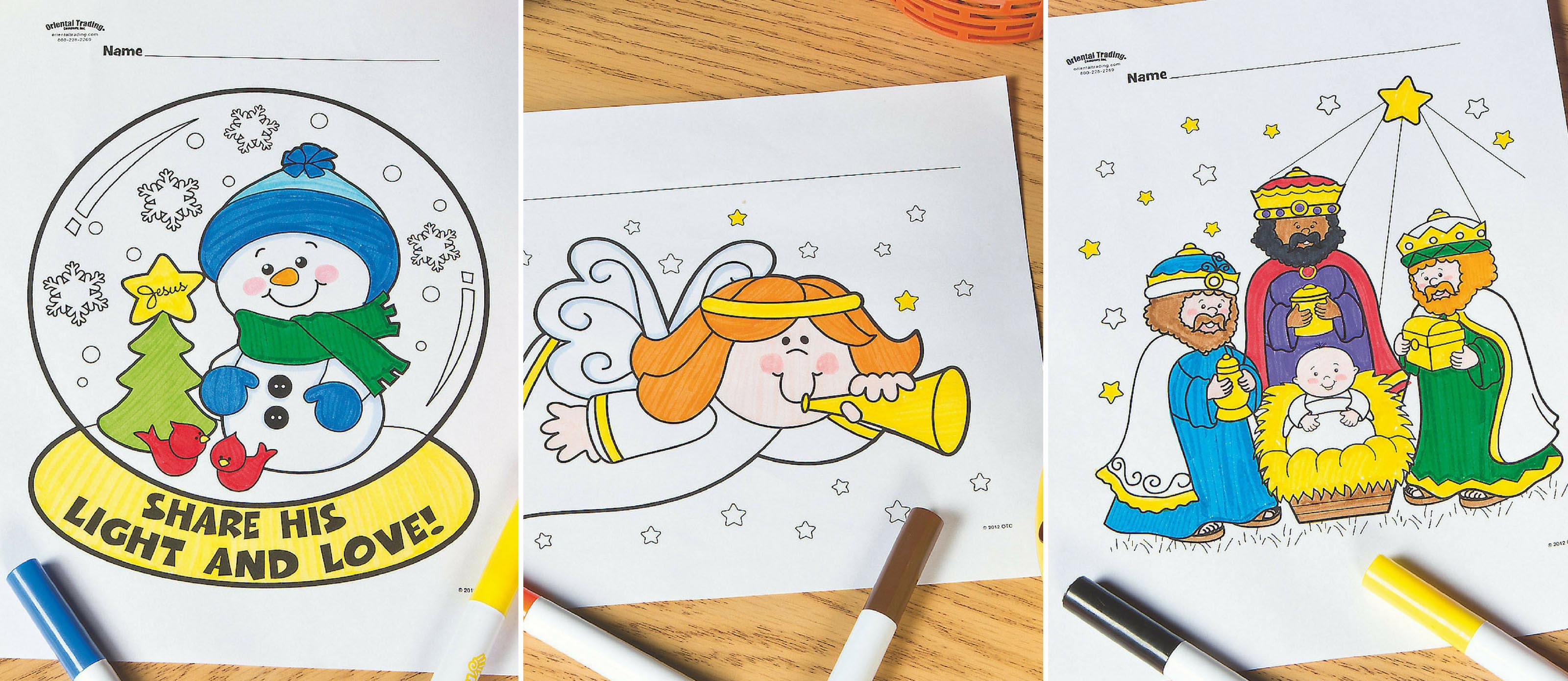 Free Christmas Sunday School Coloring Pages Fun365