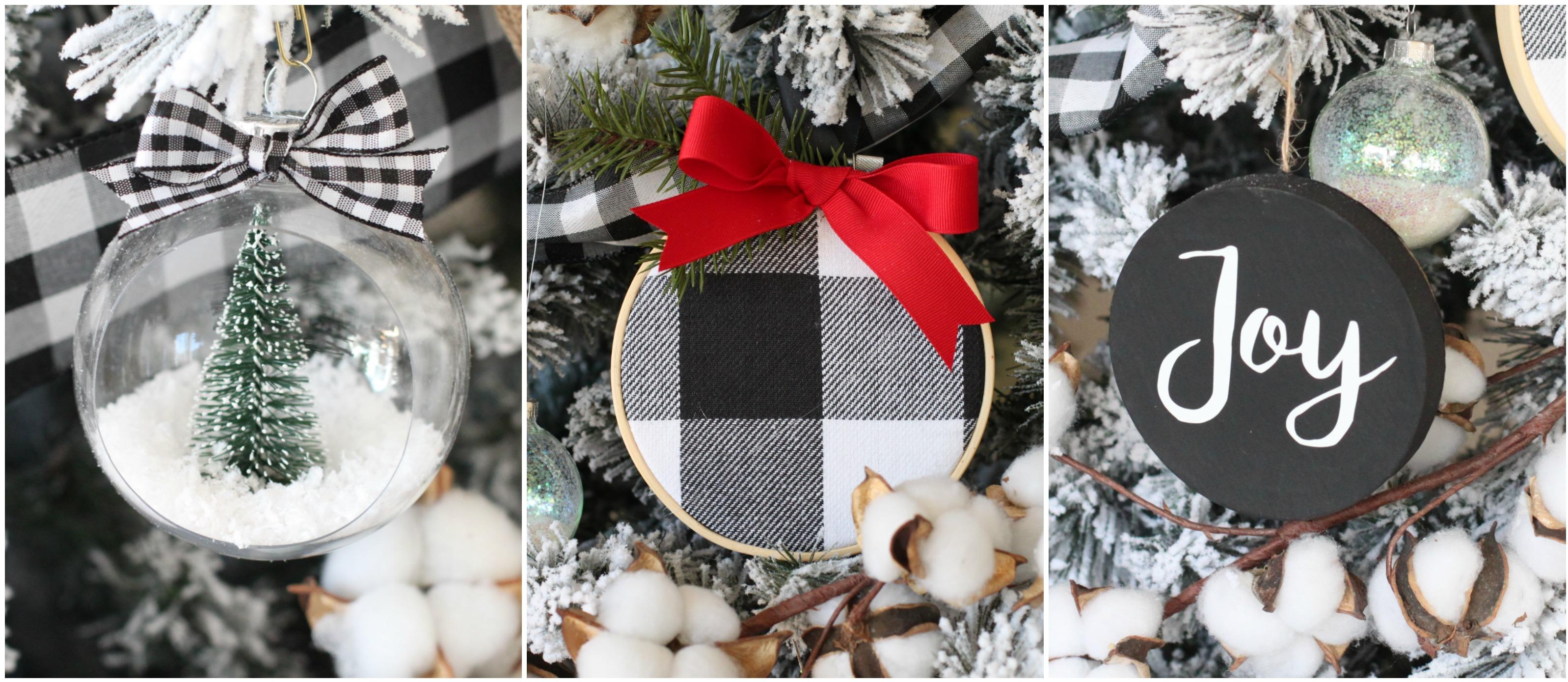 5 Diy Christmas Ornaments For Black White Christmas Tree Fun365