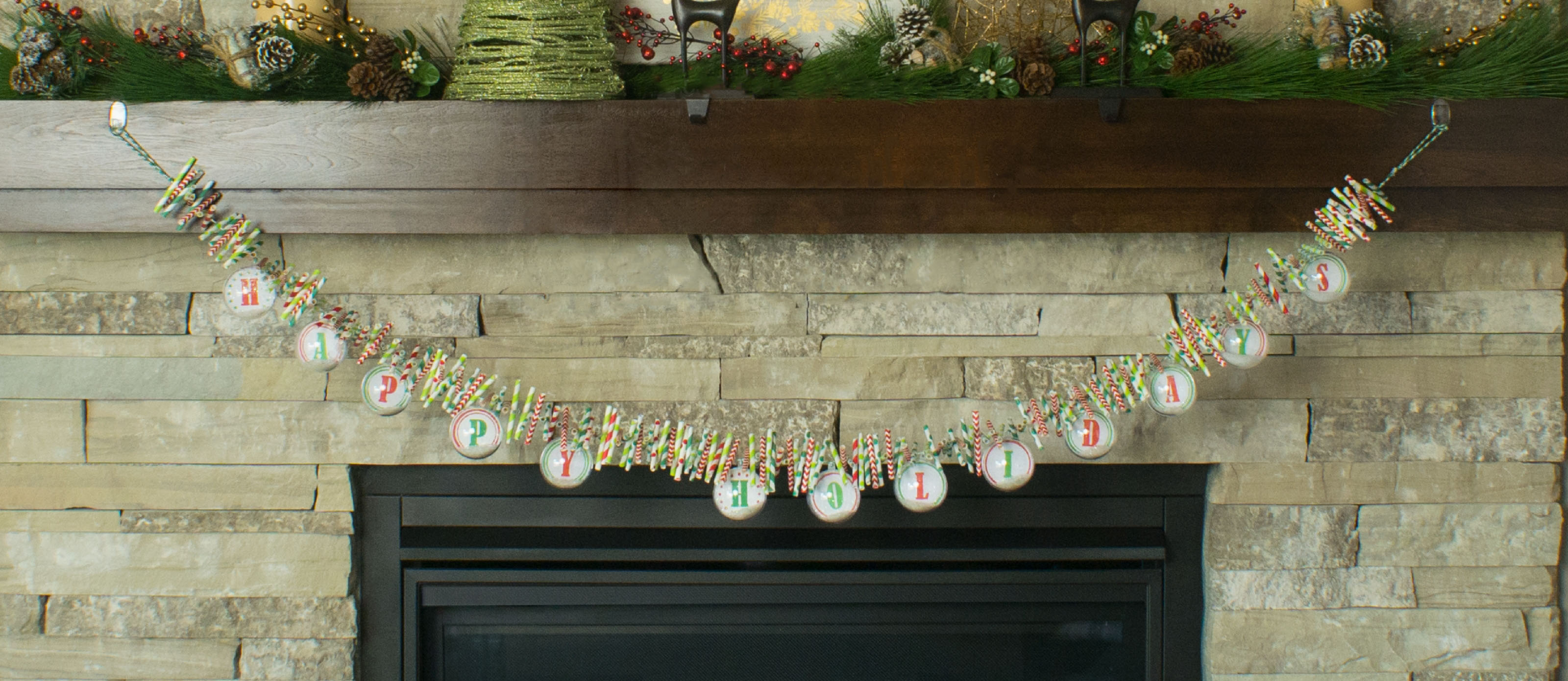 Diy Paper Straw Christmas Garland Fun365