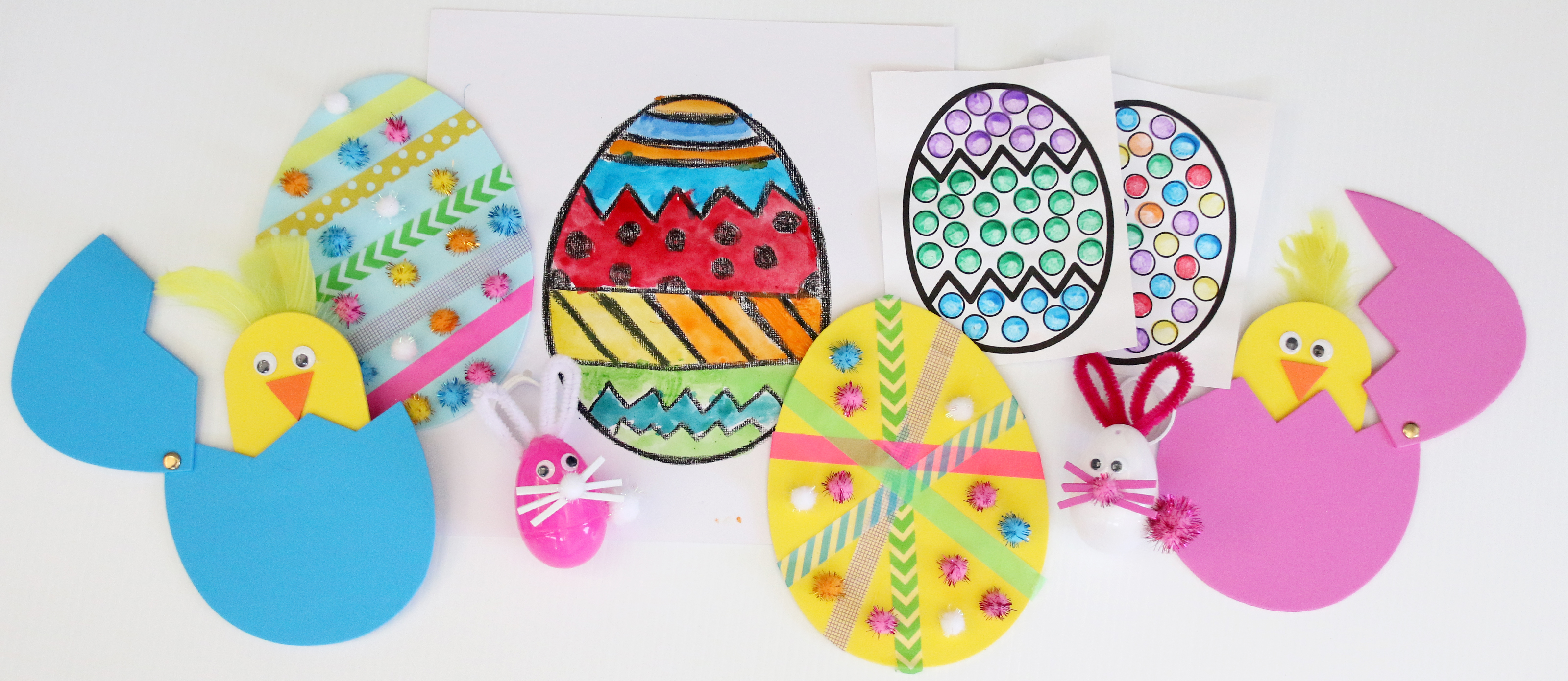 32 Simple Easter Egg Crafts for Preschoolers   Fun3632