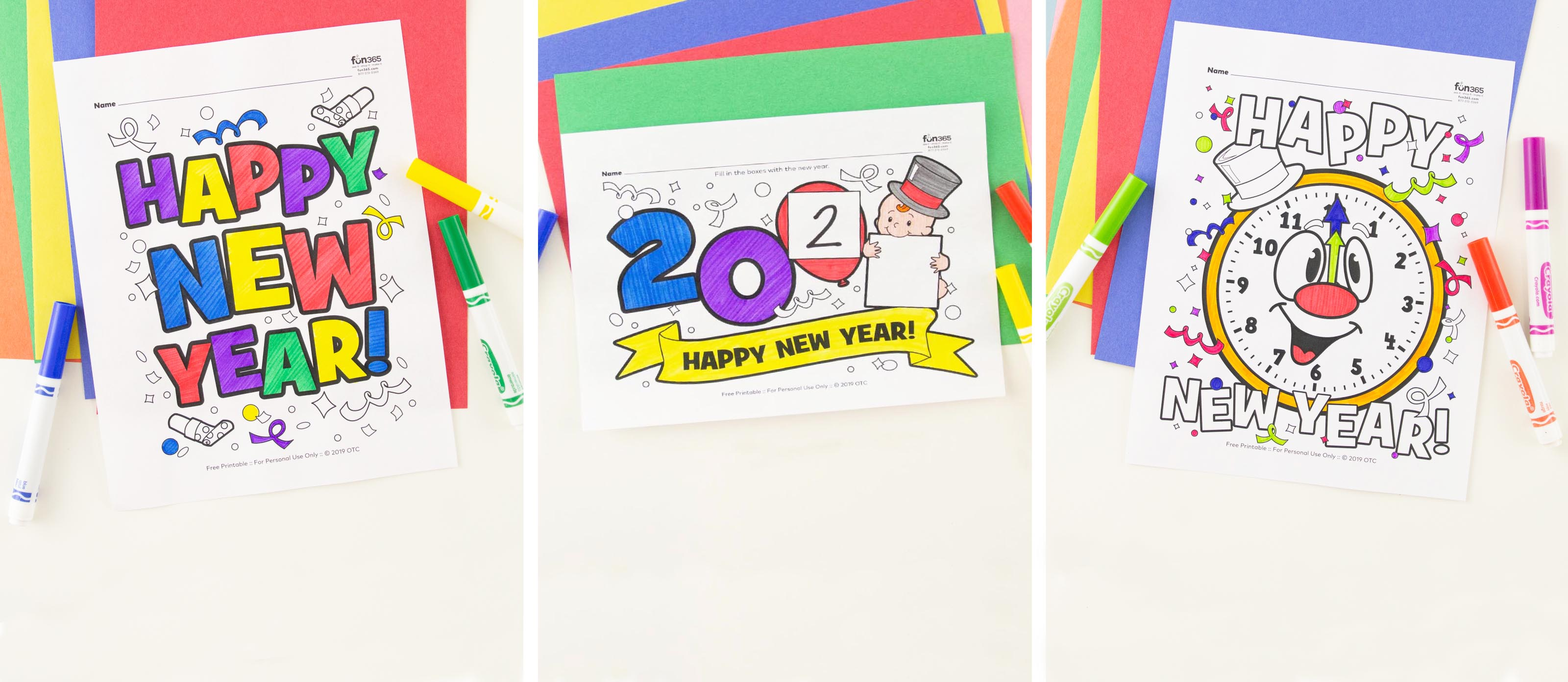 Free New Year Coloring Pages Fun365