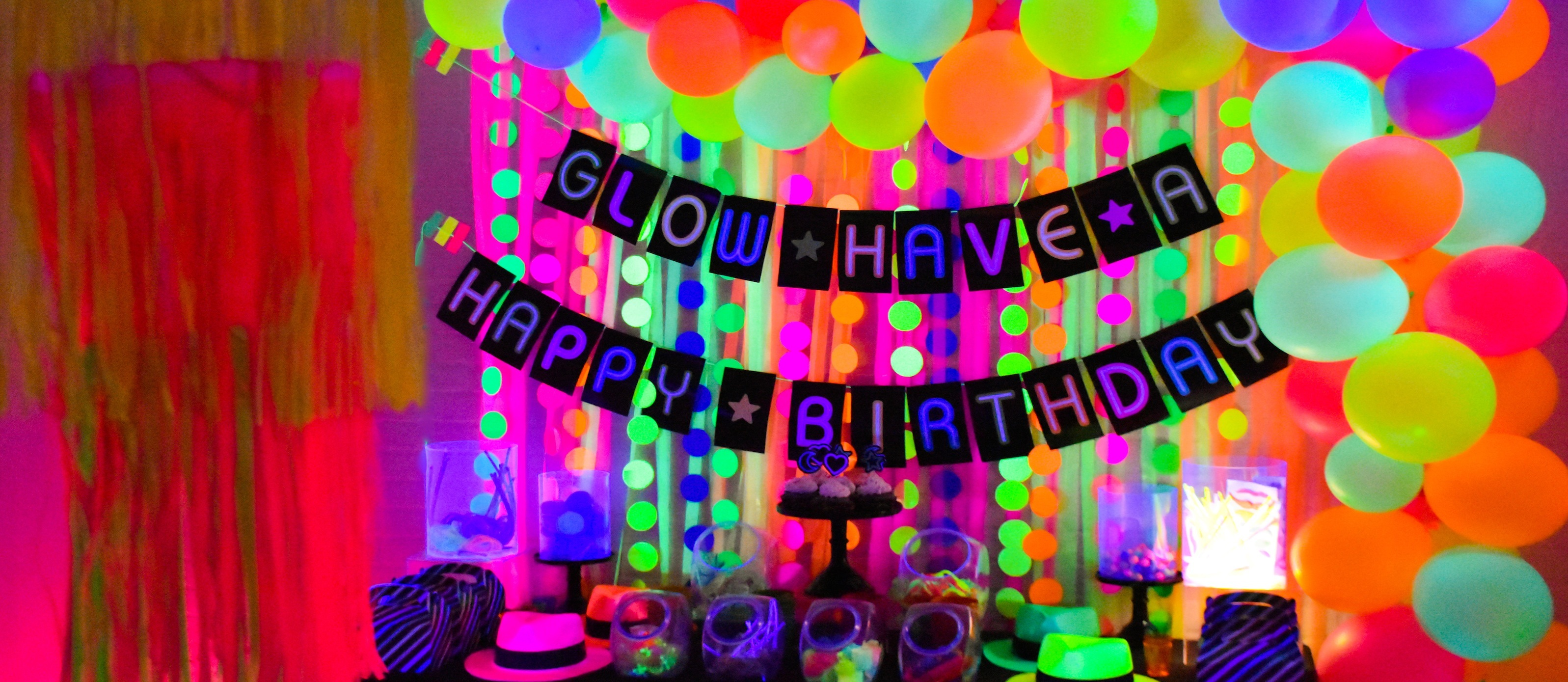 Glow In The Dark Party Ideas  Fun11