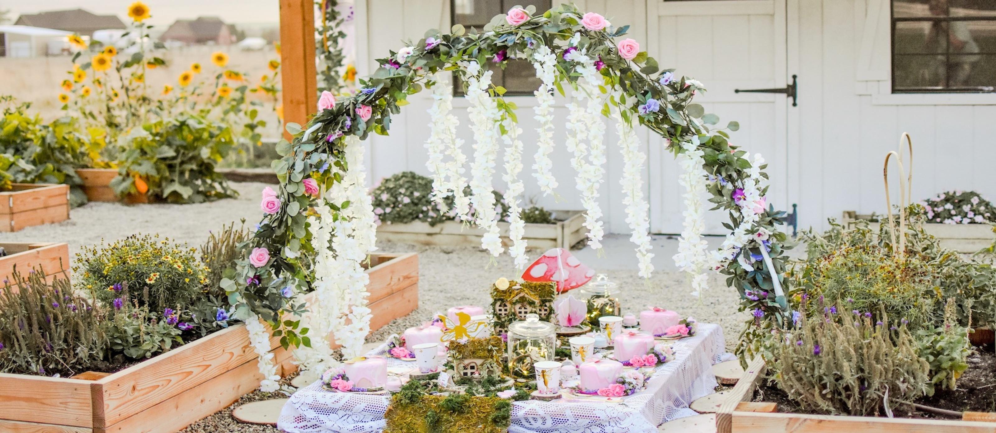 A Pretty Garden Fairy Birthday Party  Fun12