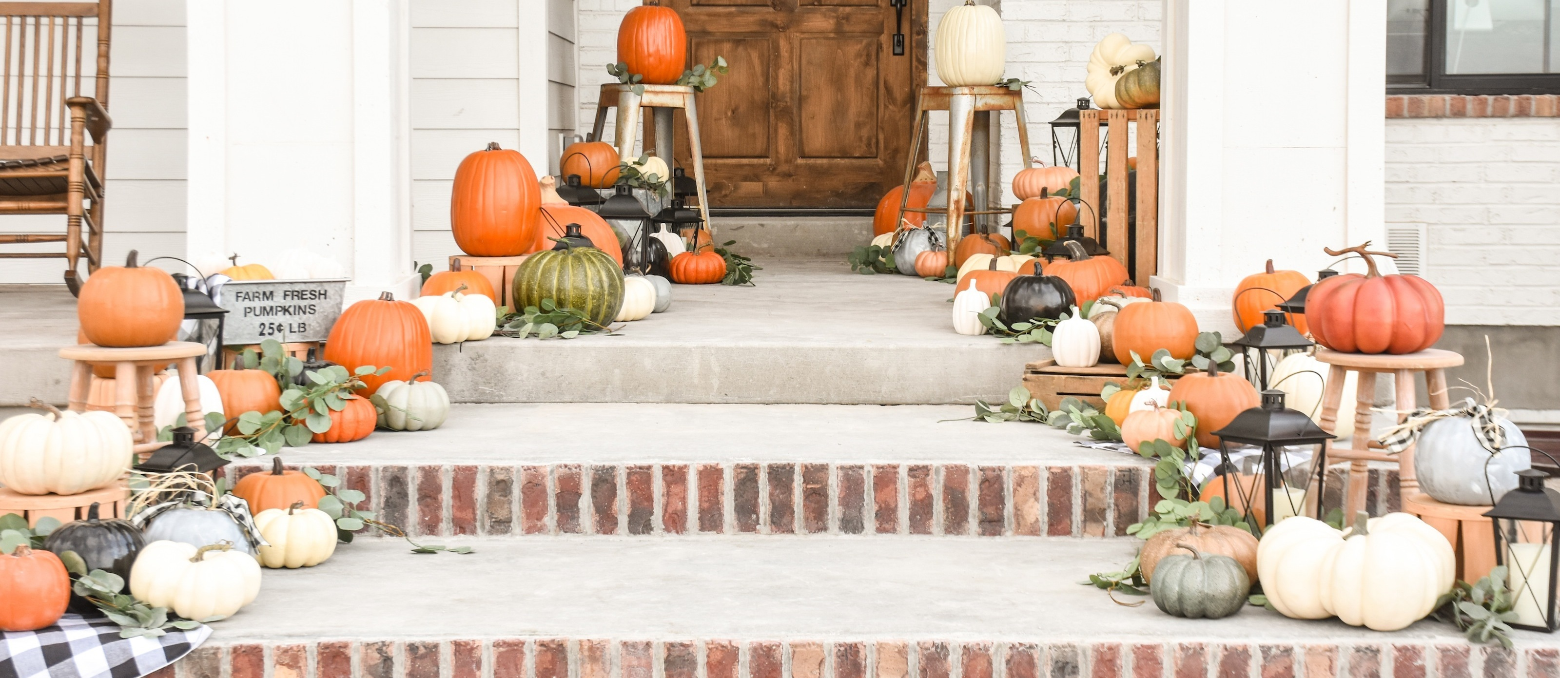 Fall Farmhouse Porch Decorating Ideas Fun365