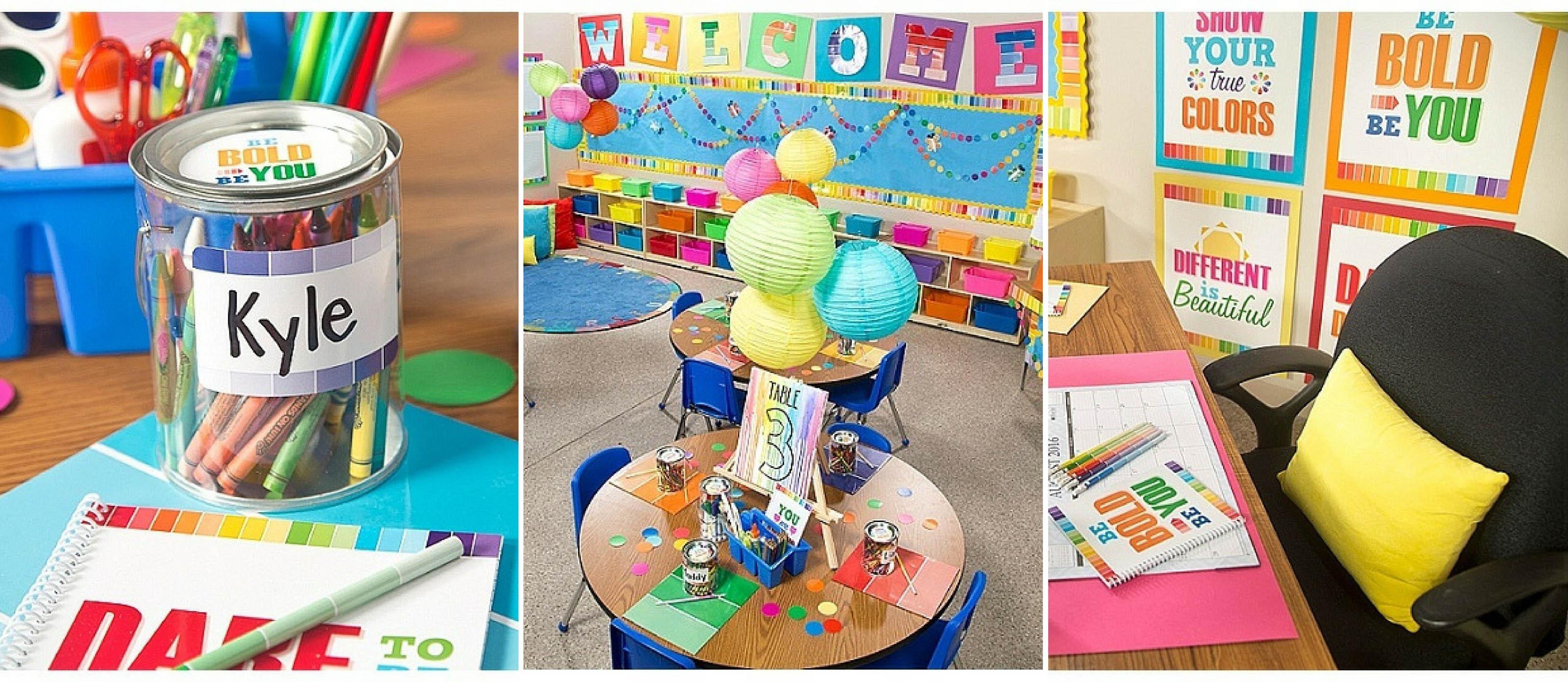 Paint Chip Classroom Decor Fun365