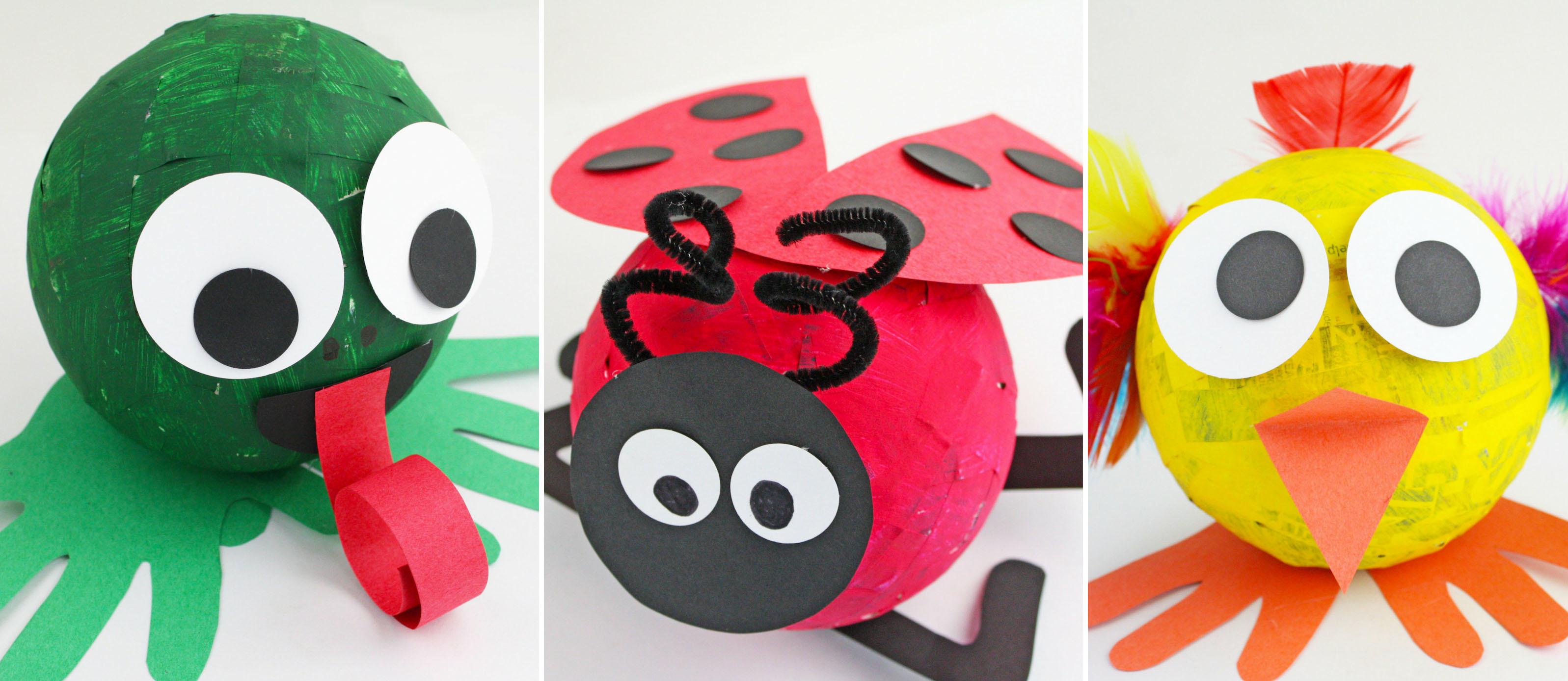 5 Spring Paper Mache Animals Fun365