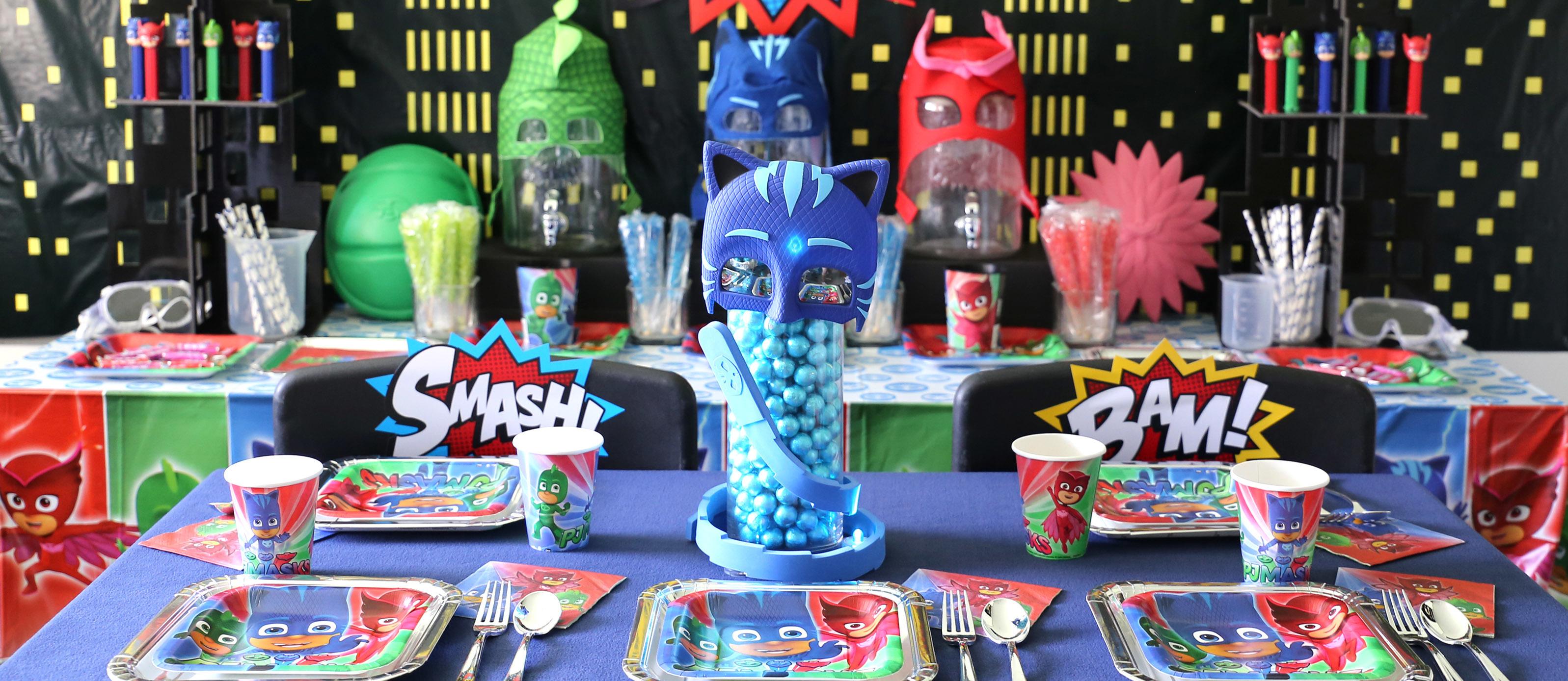 PJ Masks Pajama Heroes Paper Masks Boys Birthday Party Supplies Favors ~ 8ct.