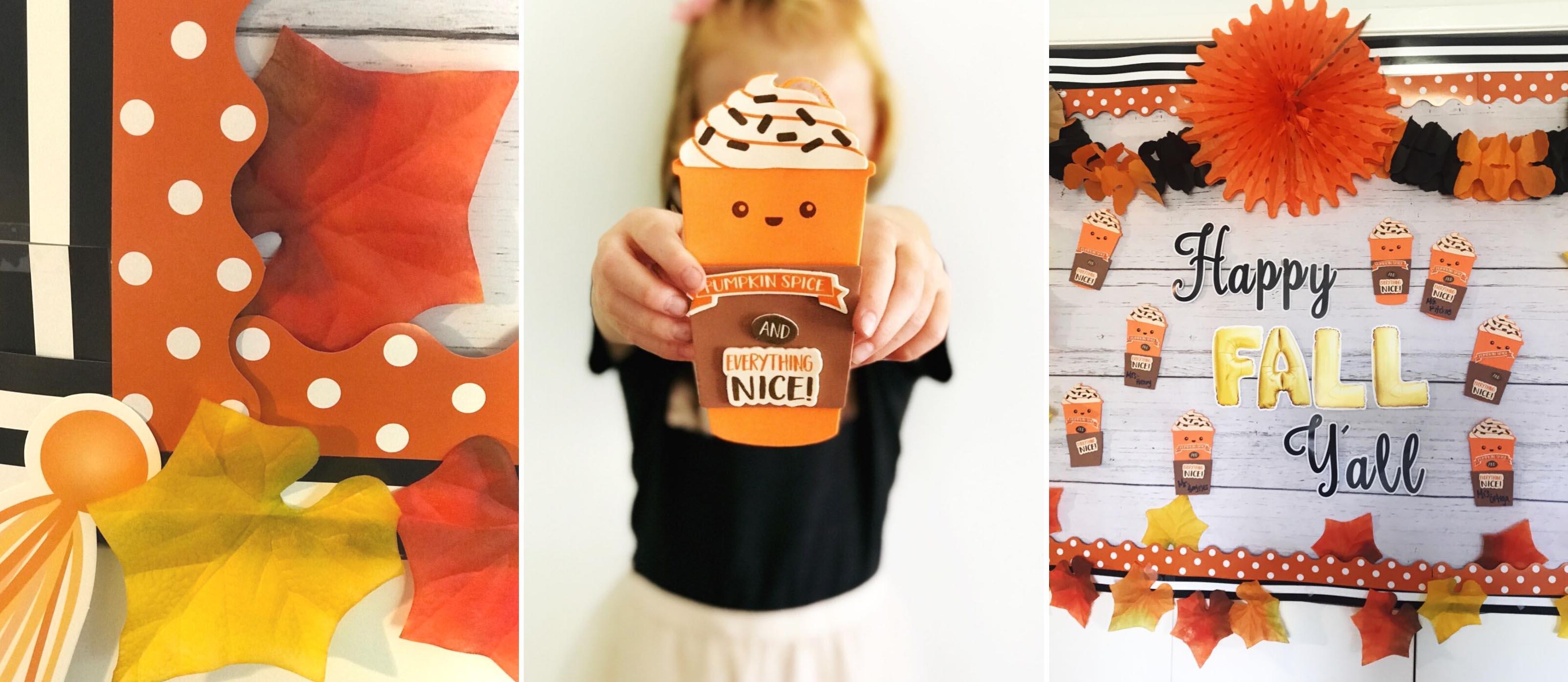Pumpkin Spice Bulletin Board And Craft Fun365