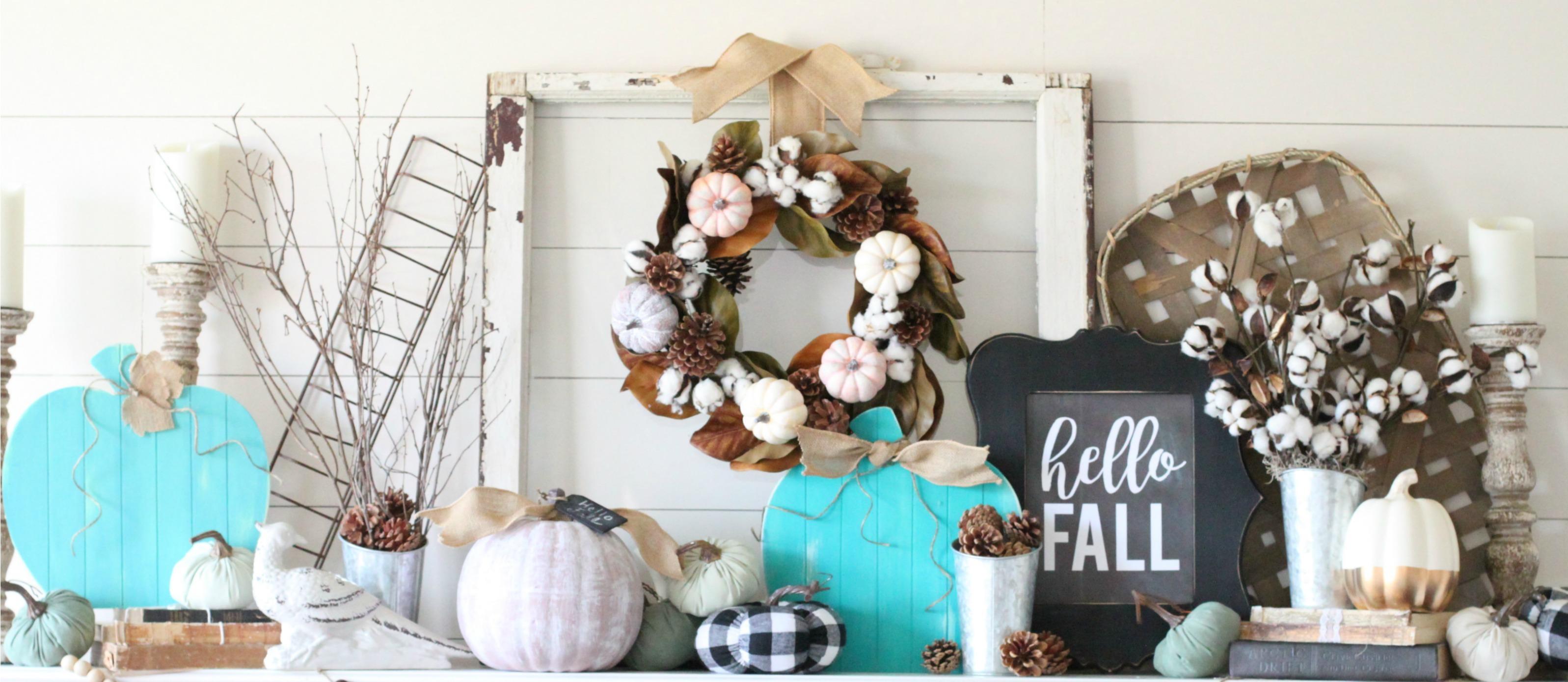 Farmhouse Fall Mantel Decor Ideas Fun365