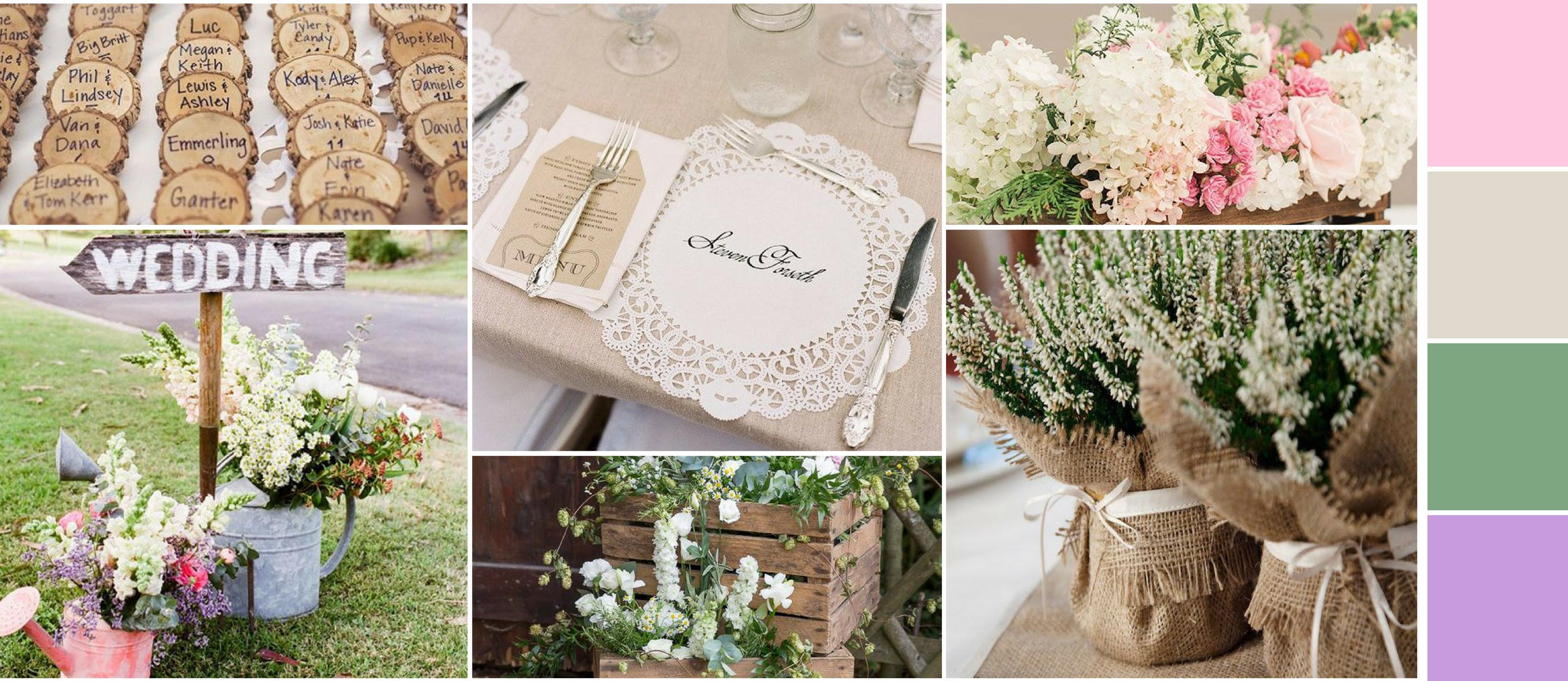 Get inspired by Our Rustic Spring Wedding Inspiration Board | Fun365