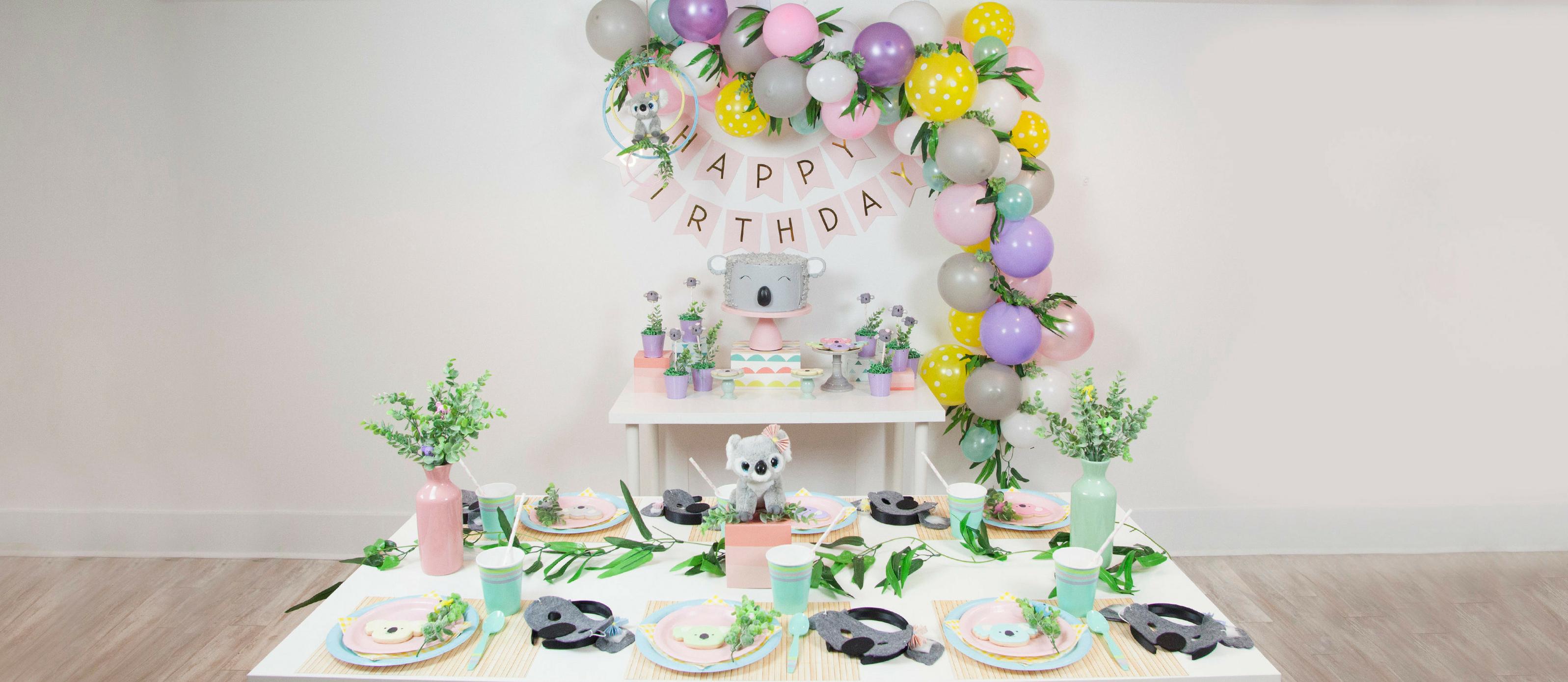 Phenomenal Pastel Koala Bear Birthday Party Fun365 Funny Birthday Cards Online Hetedamsfinfo