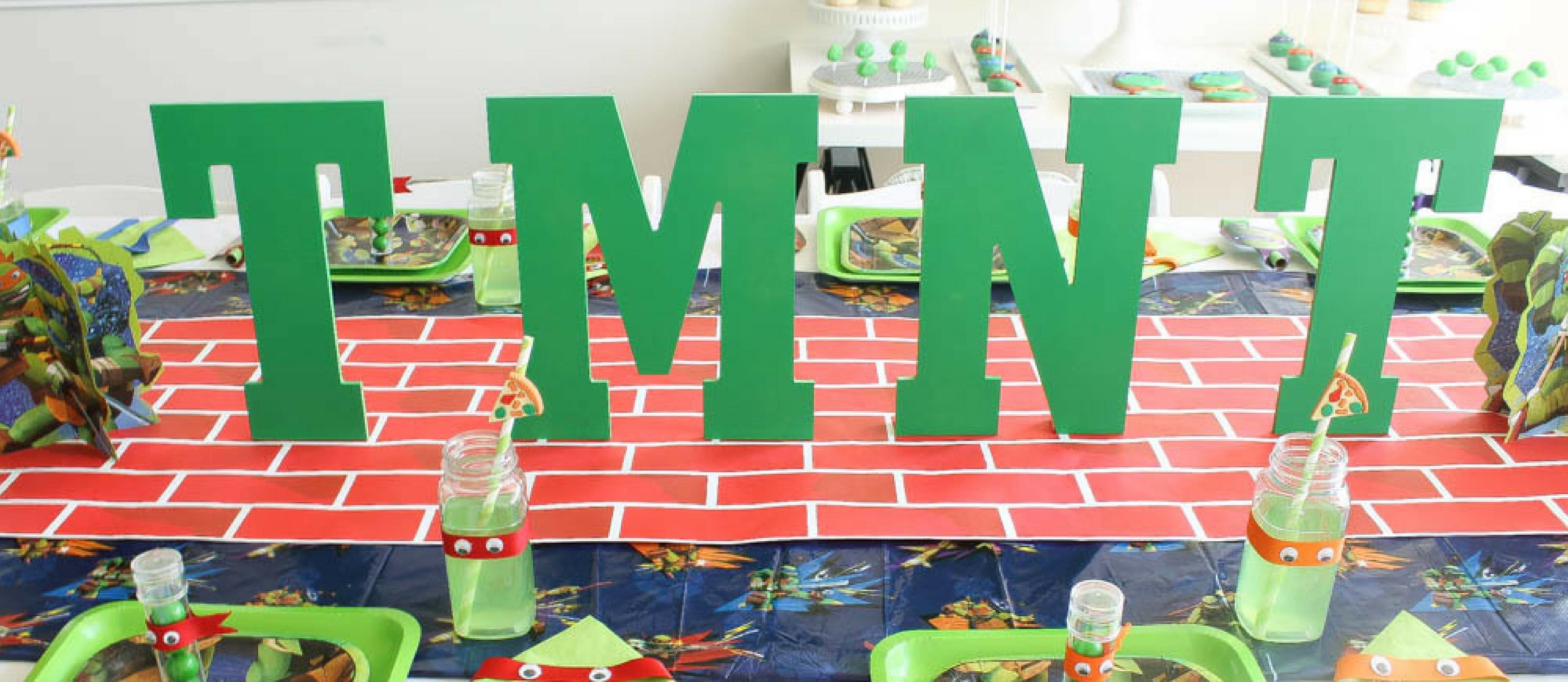 Pleasant Teenage Mutant Ninja Turtles Birthday Party Fun365 Personalised Birthday Cards Petedlily Jamesorg