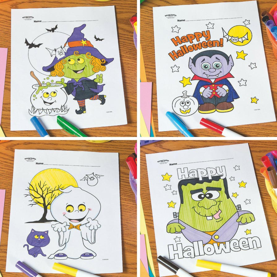 Free Printable Halloween Coloring Pages Fun365