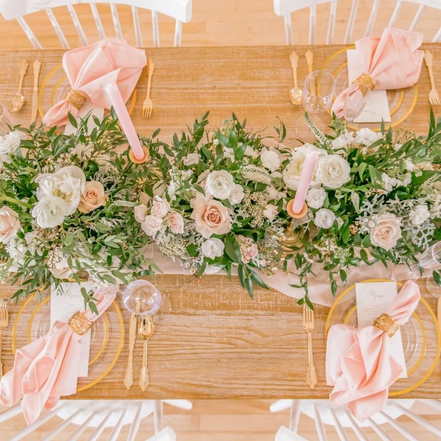 Blush Greenery And Gold Spring Wedding Fun365