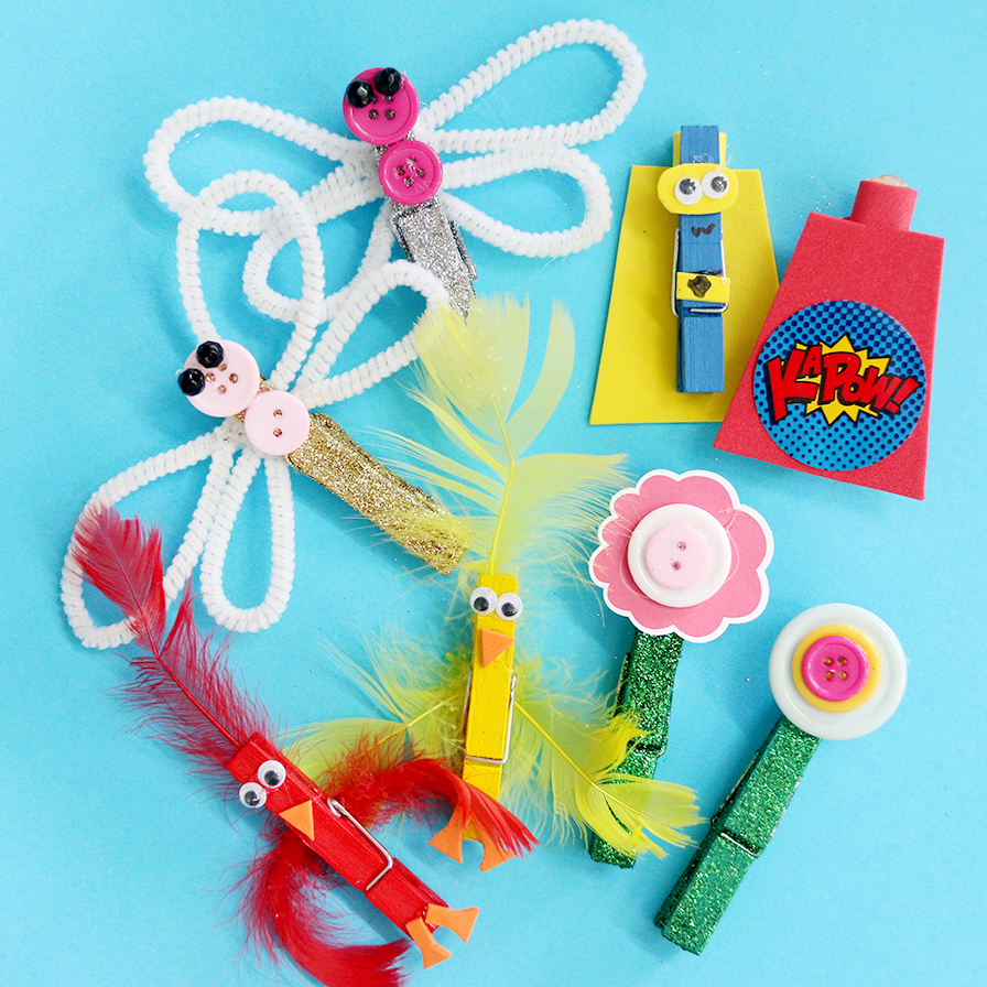 Clothespin Crafts For Kids Fun365