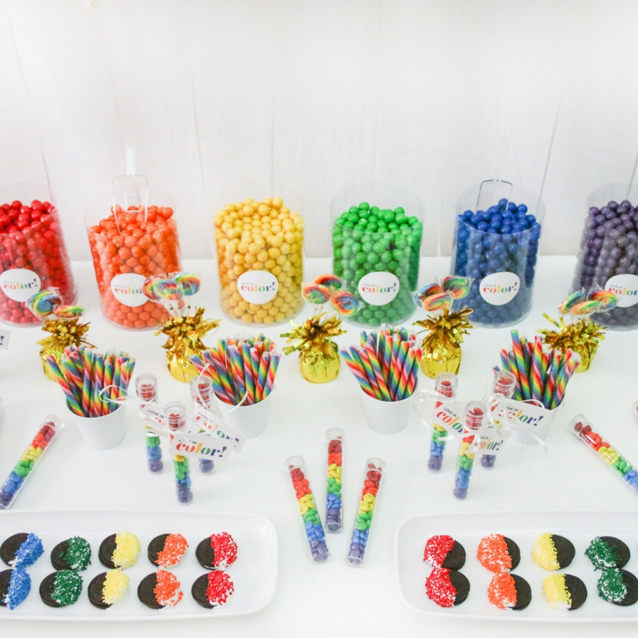 Diy Rainbow Candy Buffet Fun365