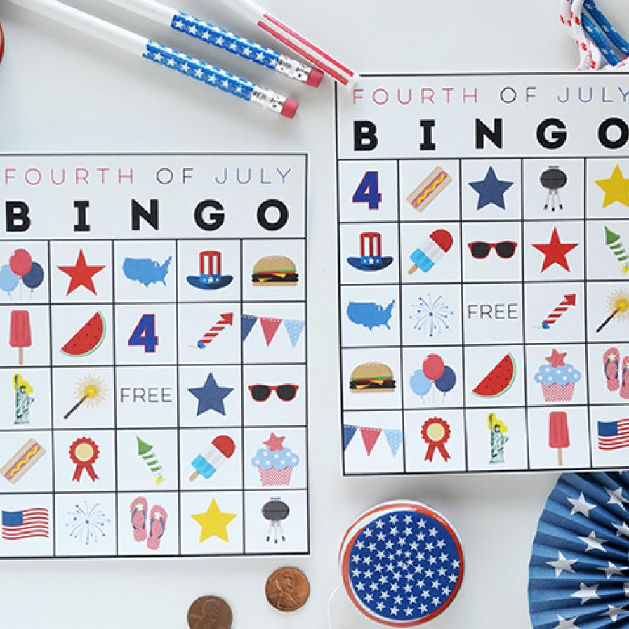 Free Printable Fourth Of July Bingo Fun365
