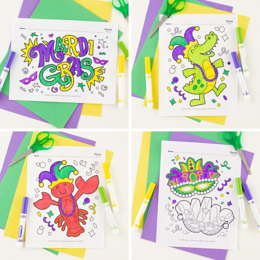 Free Mardi Gras Coloring Pages Fun365