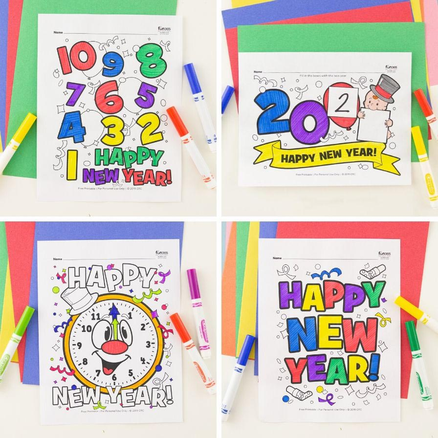 Printable happy new year 2020 coloring pages - Free Printable ... | 896x896