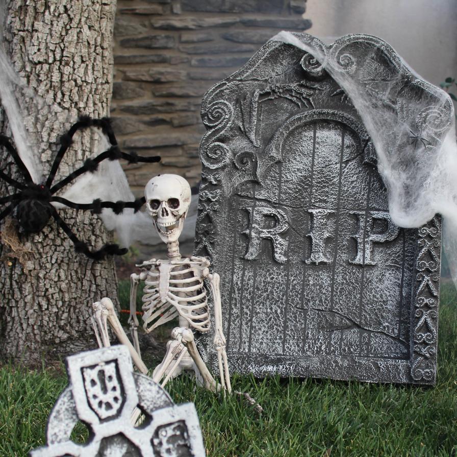 Halloween Garden Yard Cemetery Prop Tombstones Gravestone Outdoor Decorations