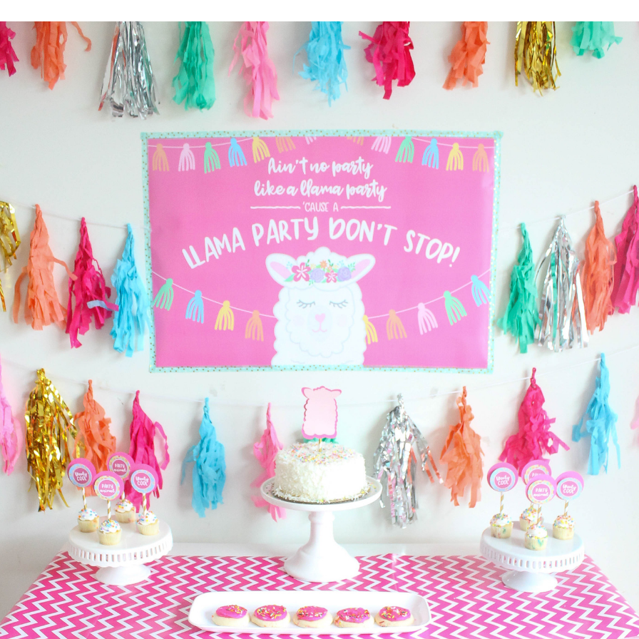Llama Party Banner 1 ct