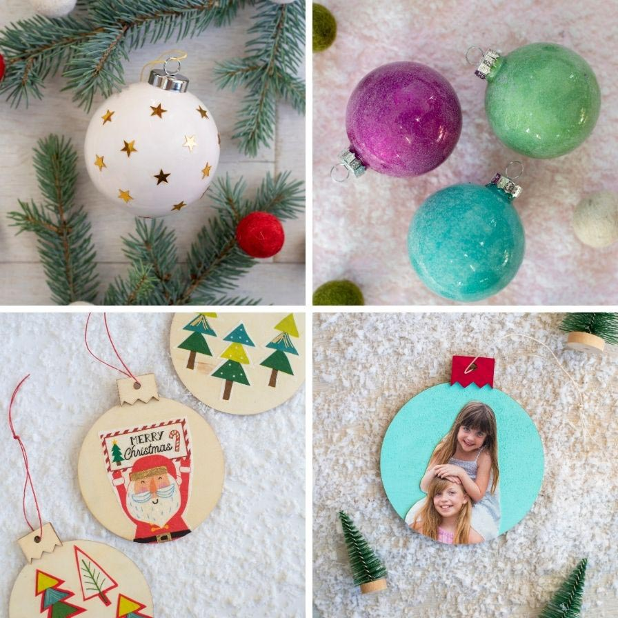 5 Ways To Mod Podge Christmas Ornaments Fun365